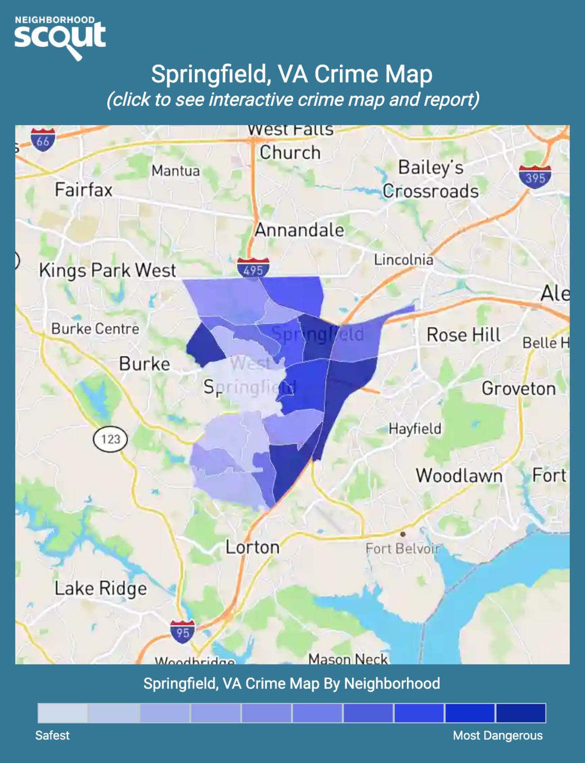 Springfield, Virginia crime map