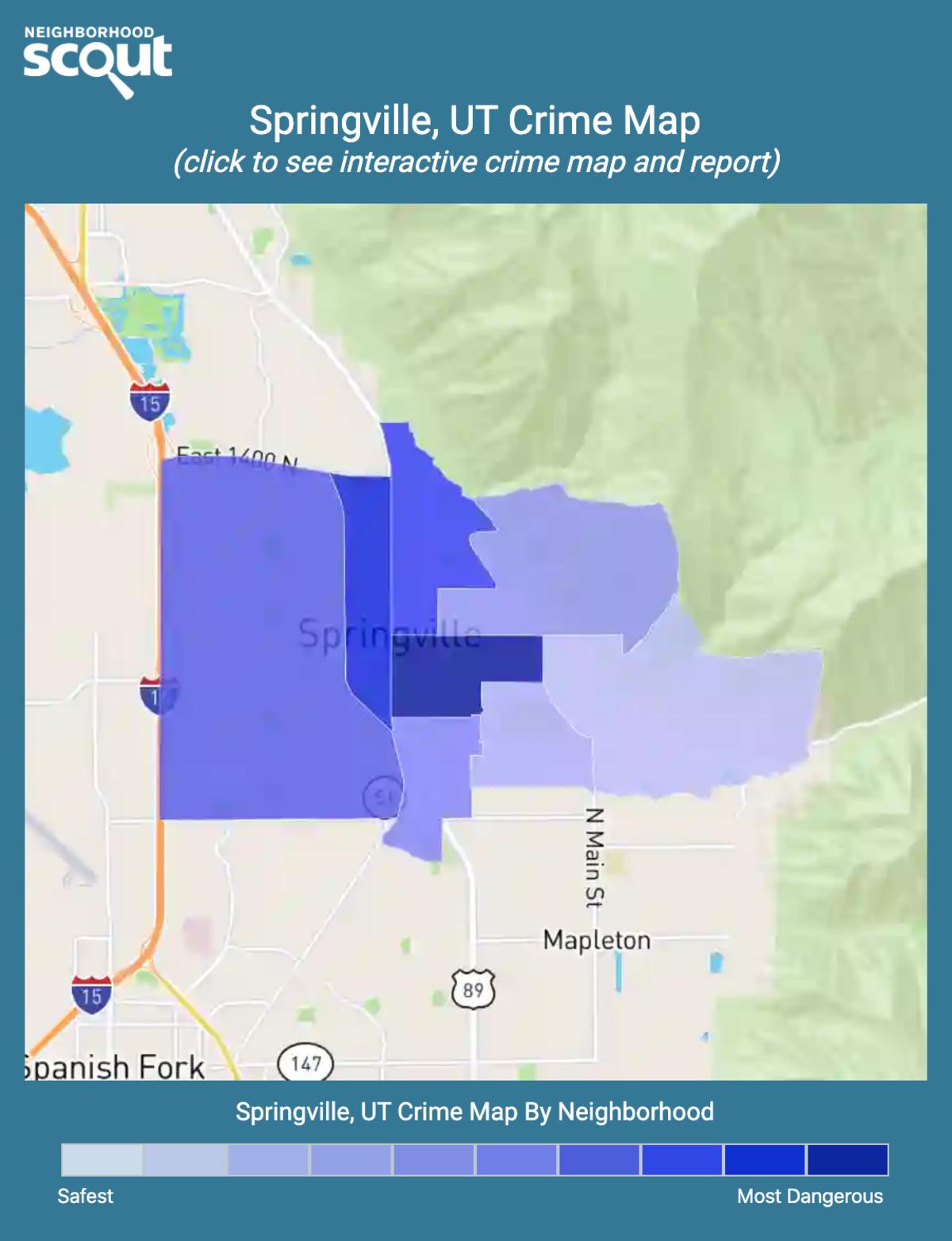 Springville, Utah crime map