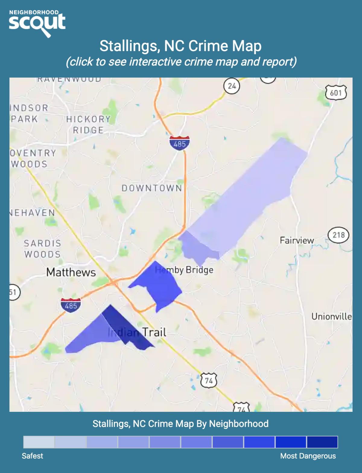 Stallings, North Carolina crime map