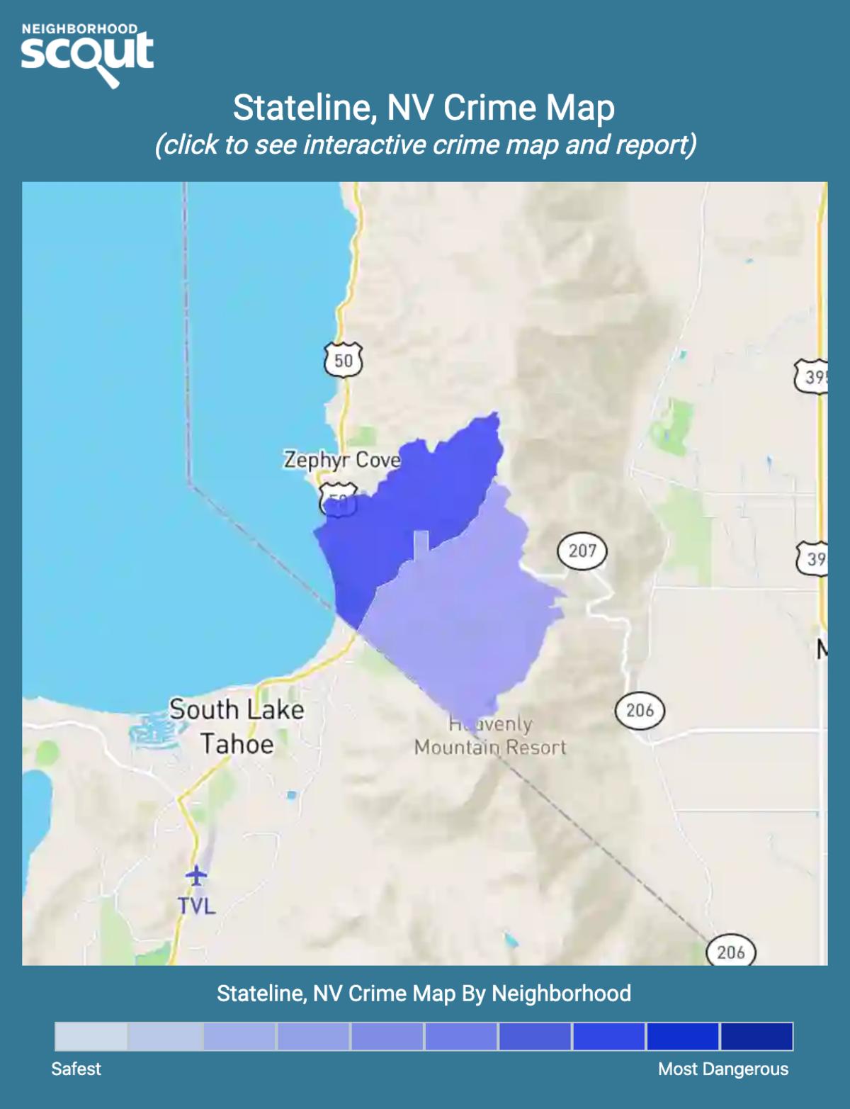 Stateline, Nevada crime map