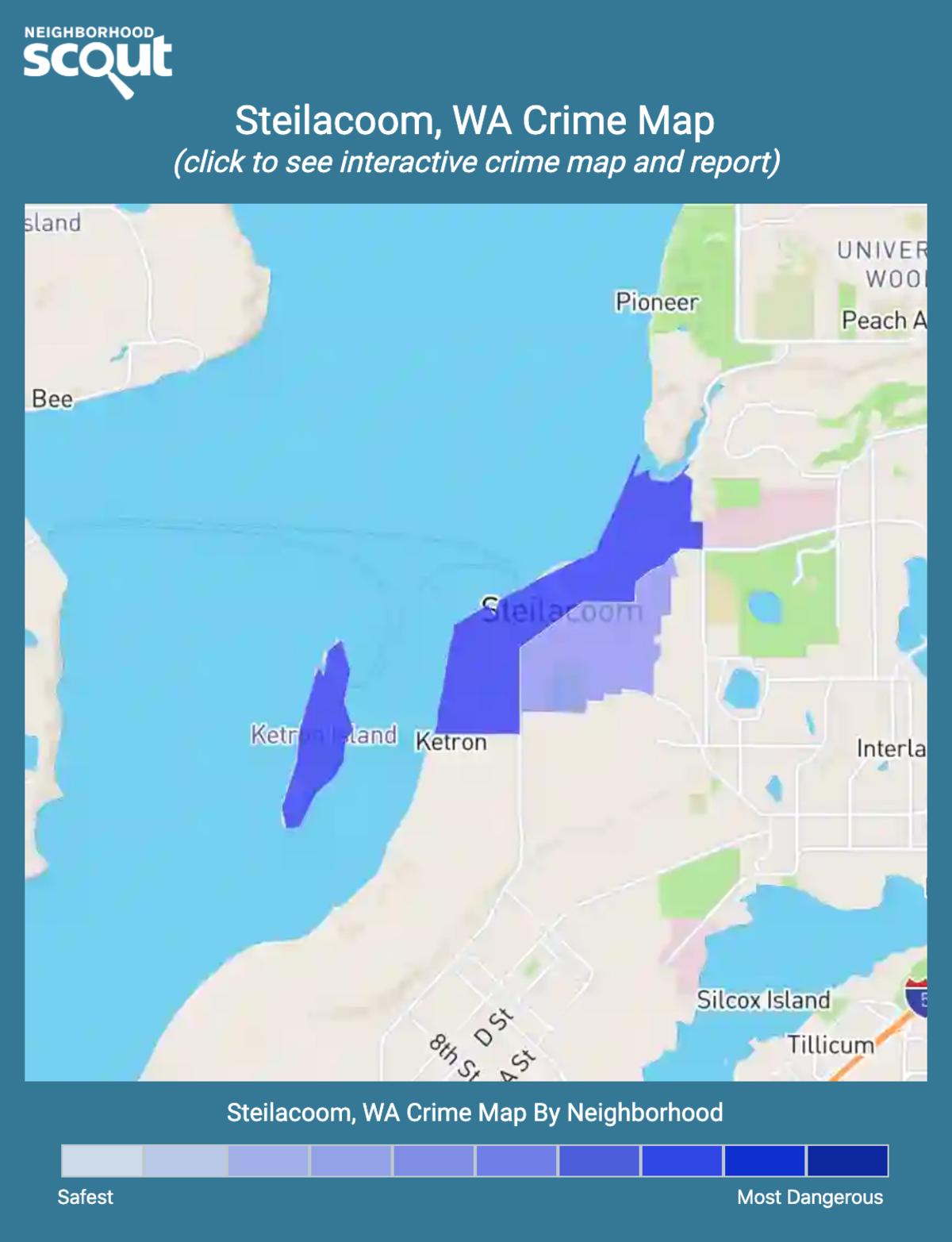 Steilacoom, Washington crime map