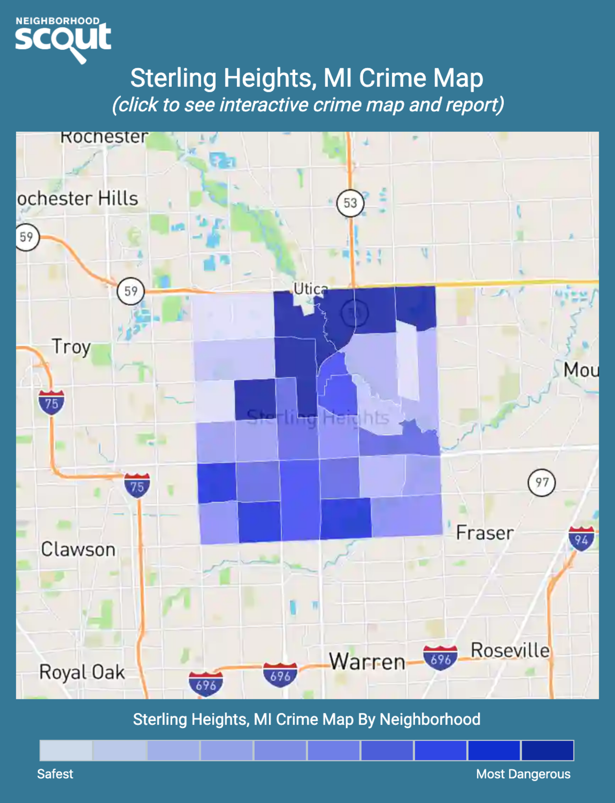 Sterling Heights, Michigan crime map