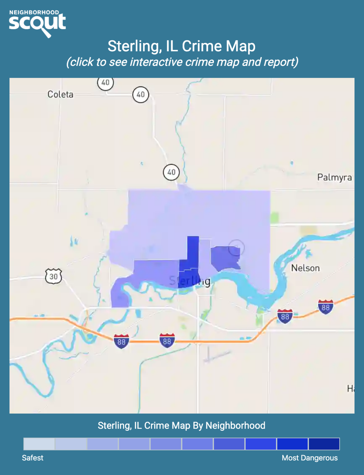 Sterling, Illinois crime map