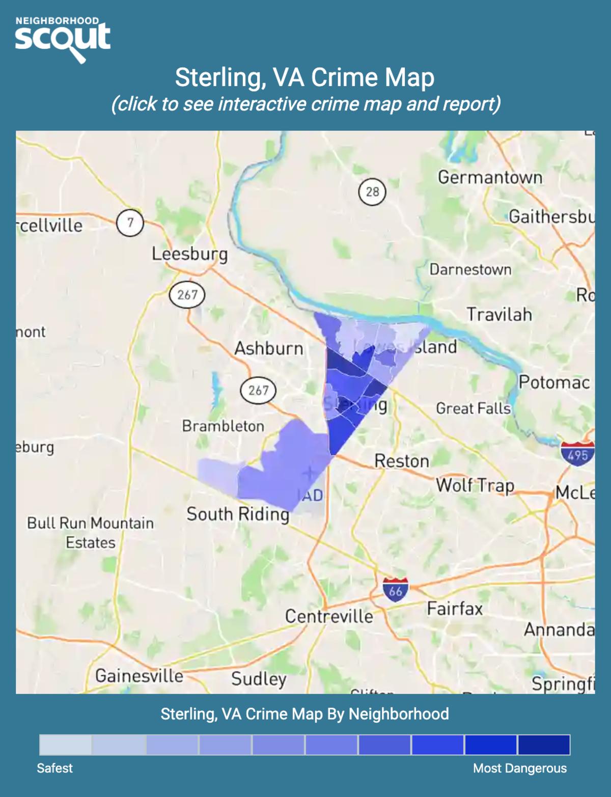 Sterling, Virginia crime map