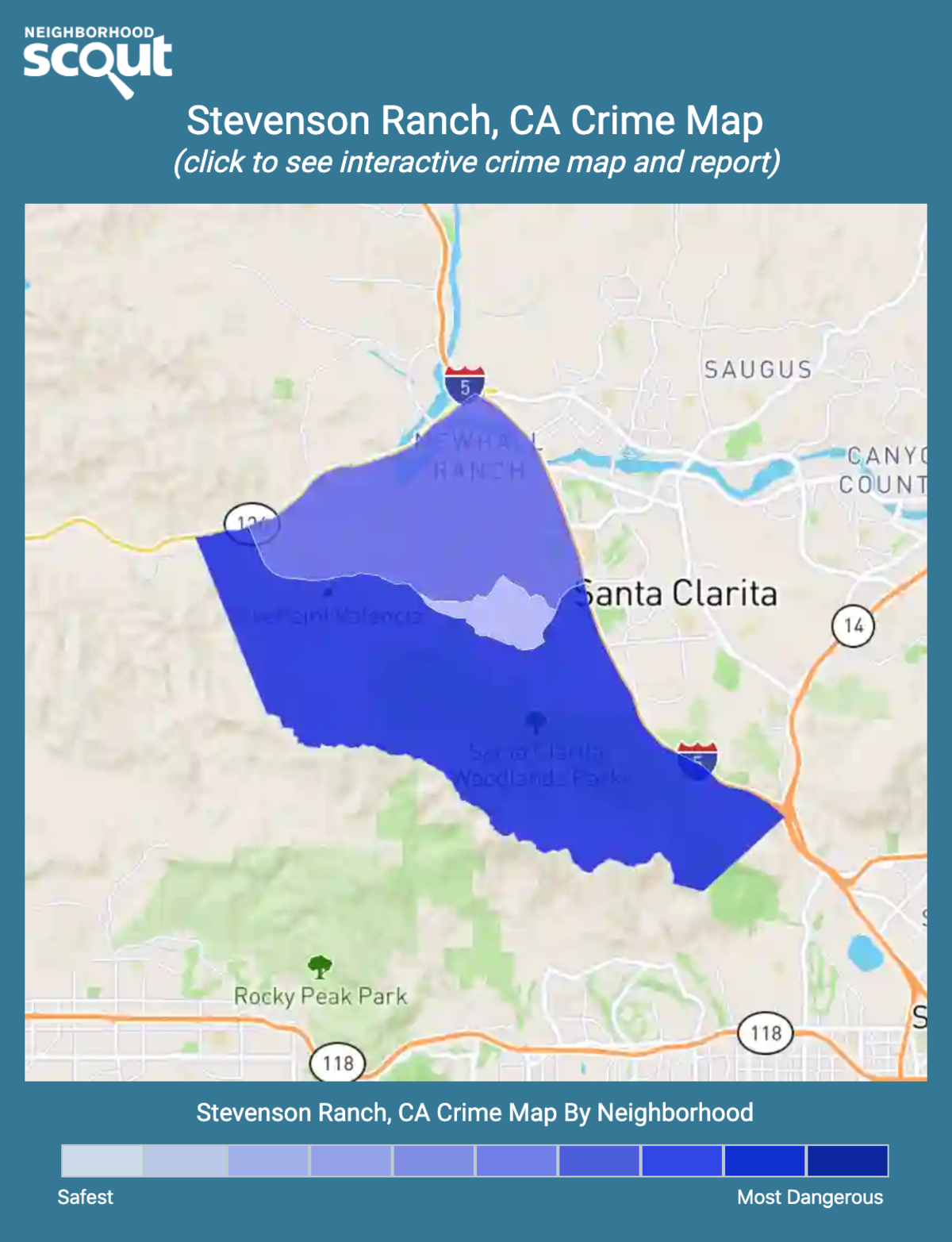Stevenson Ranch, California crime map