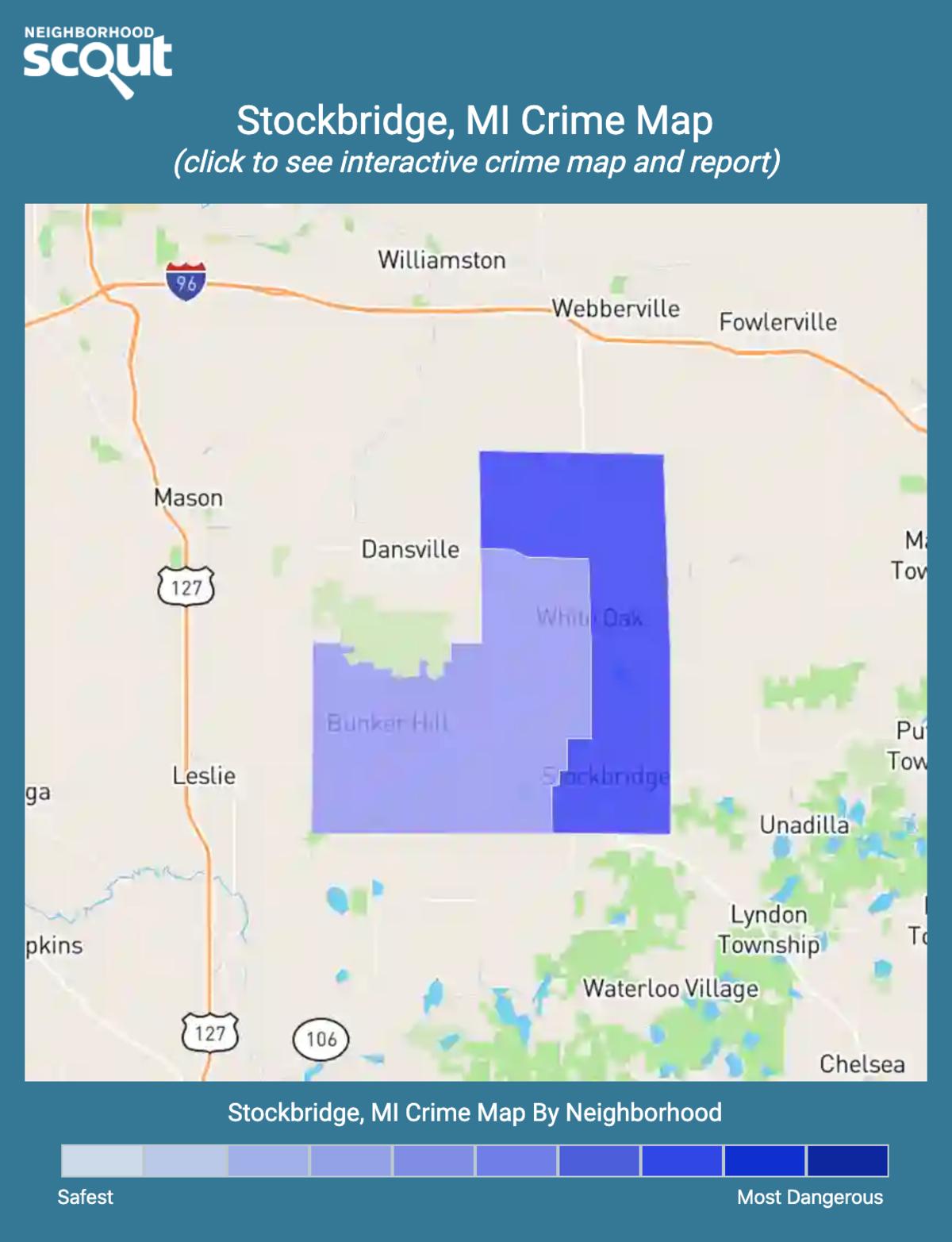 Stockbridge, Michigan crime map