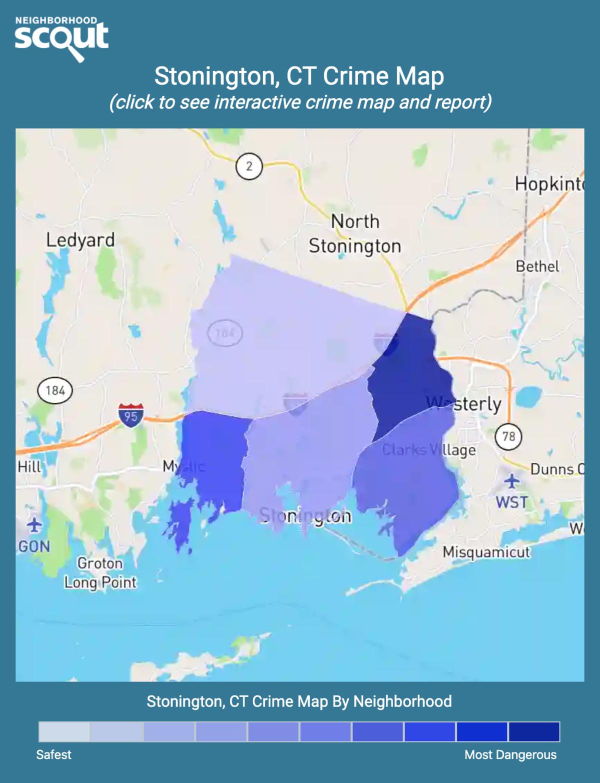 Stonington, Connecticut crime map