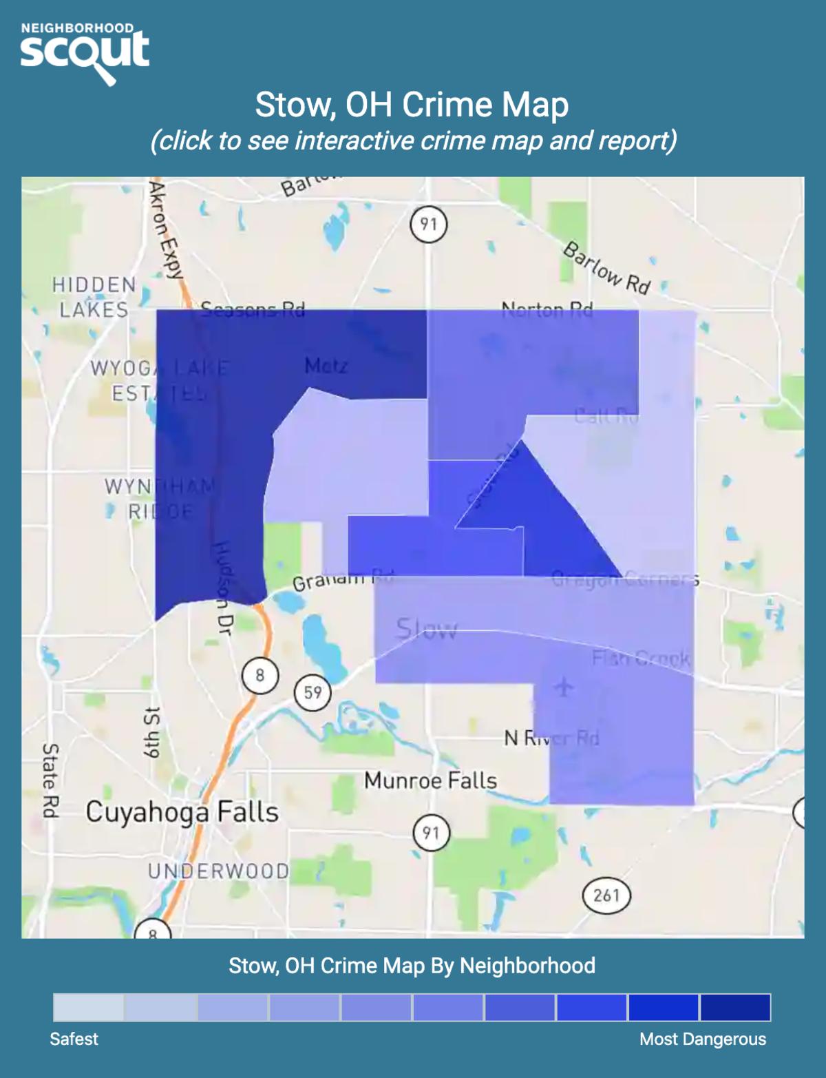 Stow, Ohio crime map