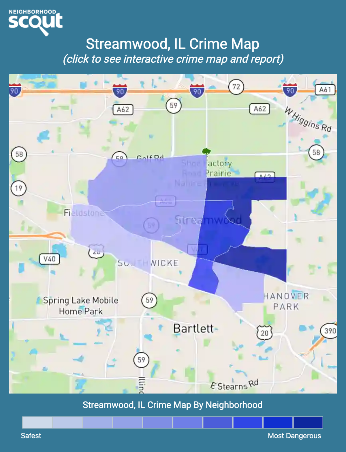 Streamwood, Illinois crime map