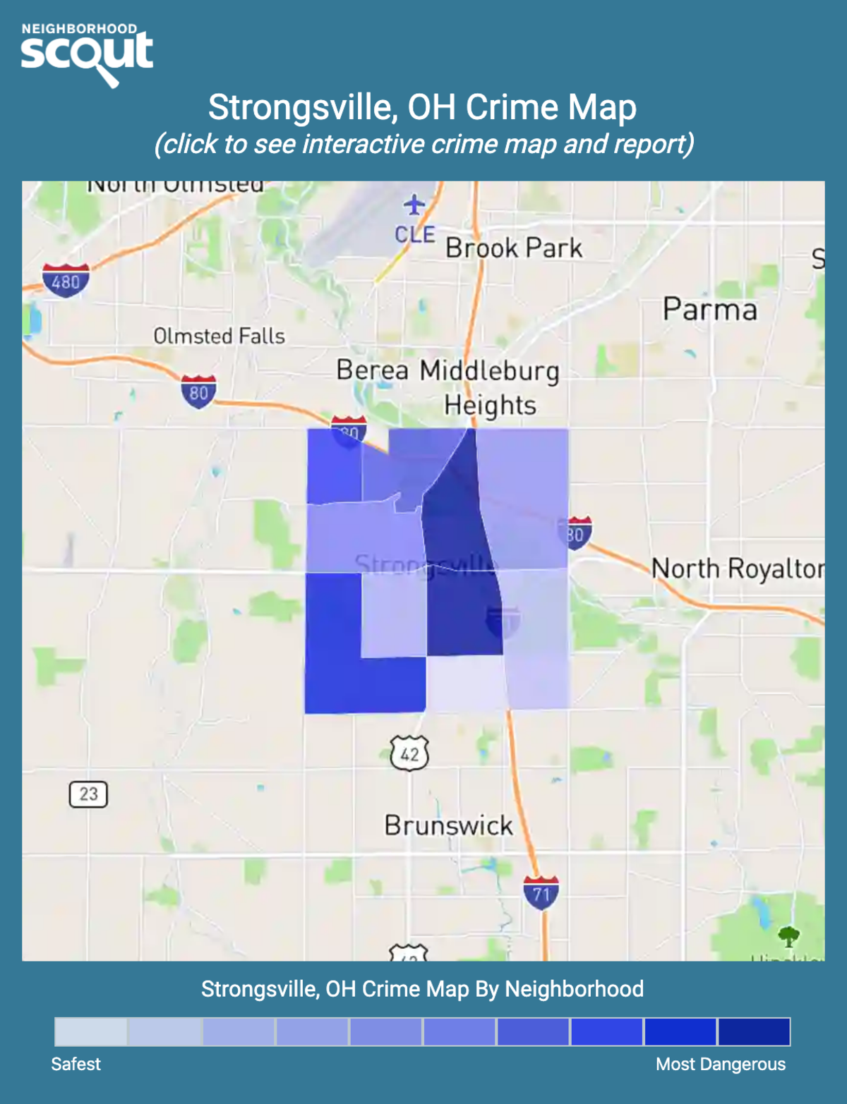 Strongsville, Ohio crime map
