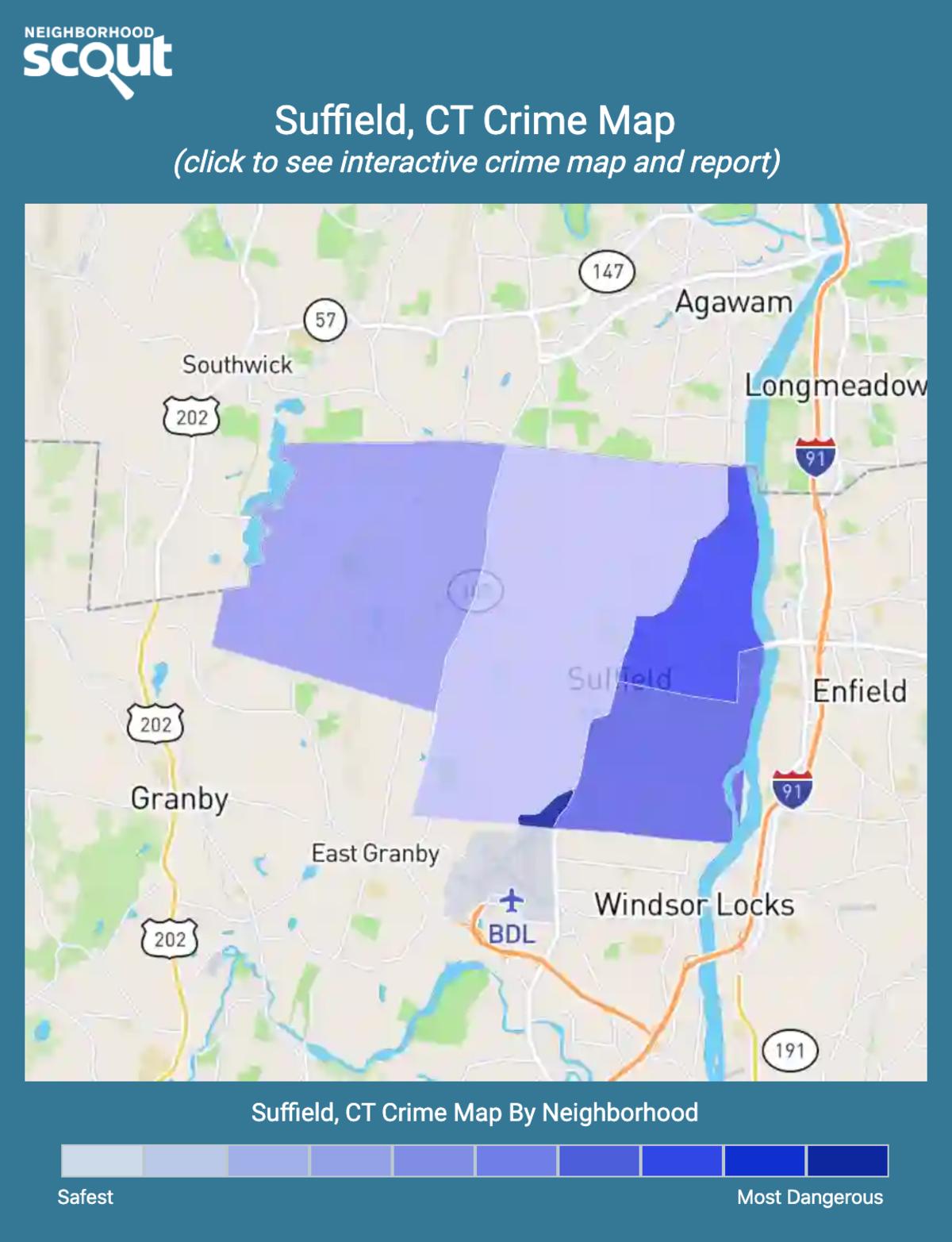 Suffield, Connecticut crime map