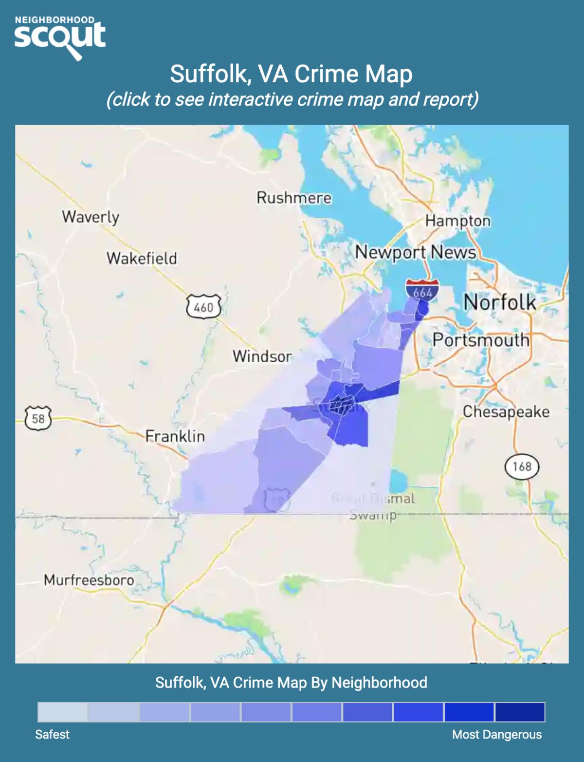 Suffolk, Virginia crime map