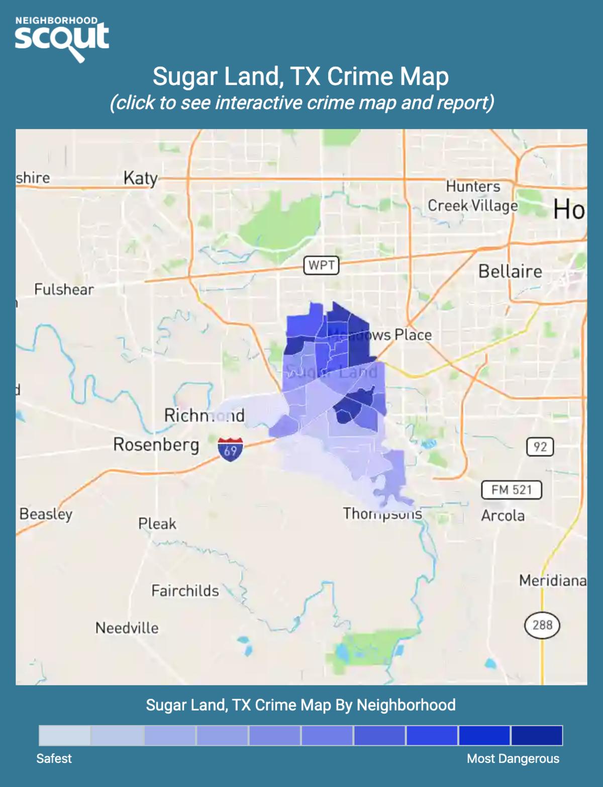 Sugar Land, Texas crime map
