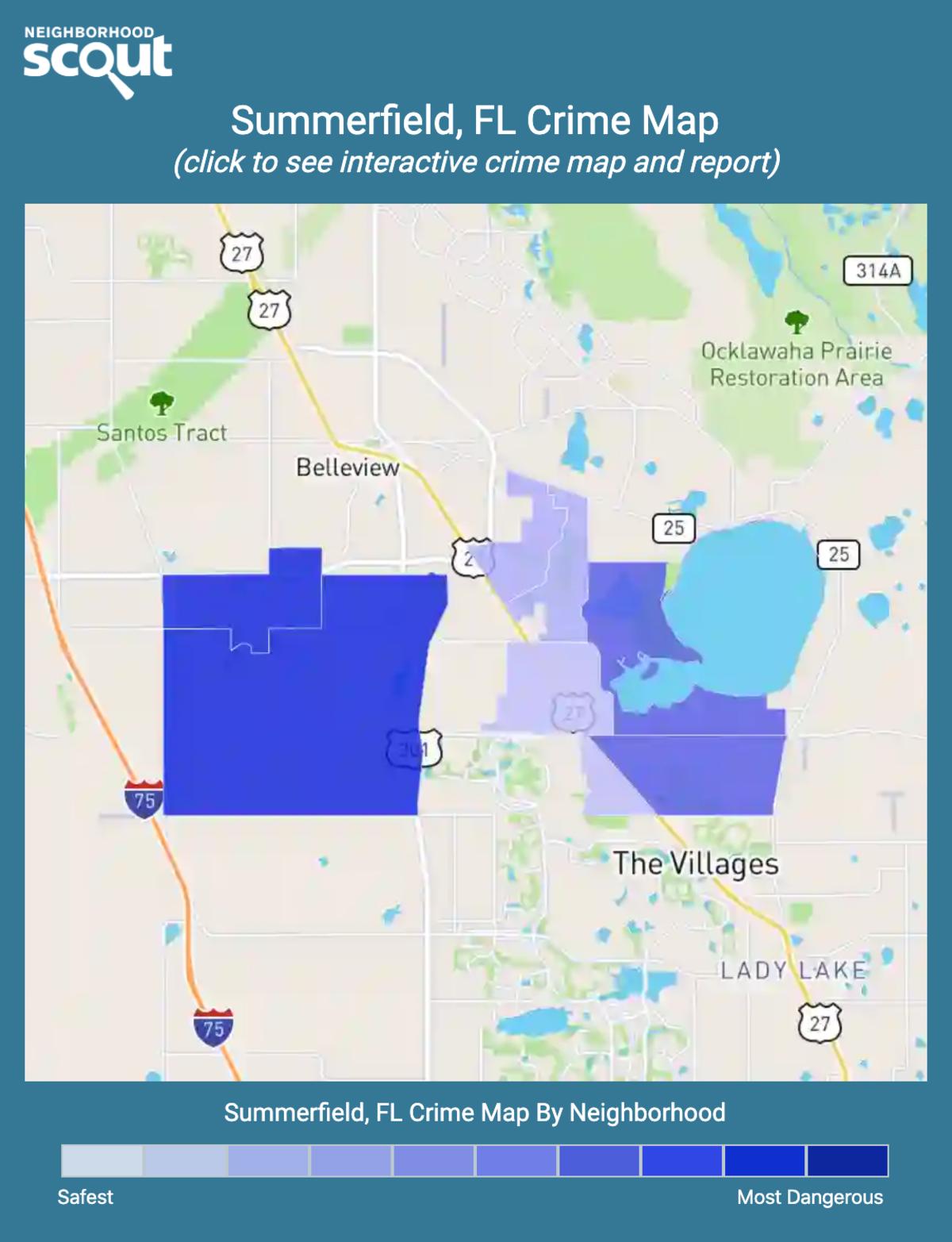 Summerfield, Florida crime map