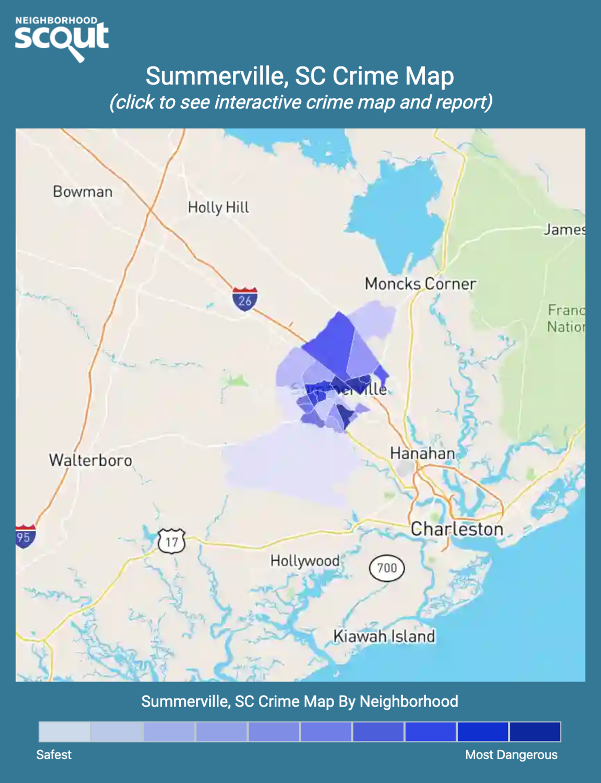 Summerville, South Carolina crime map