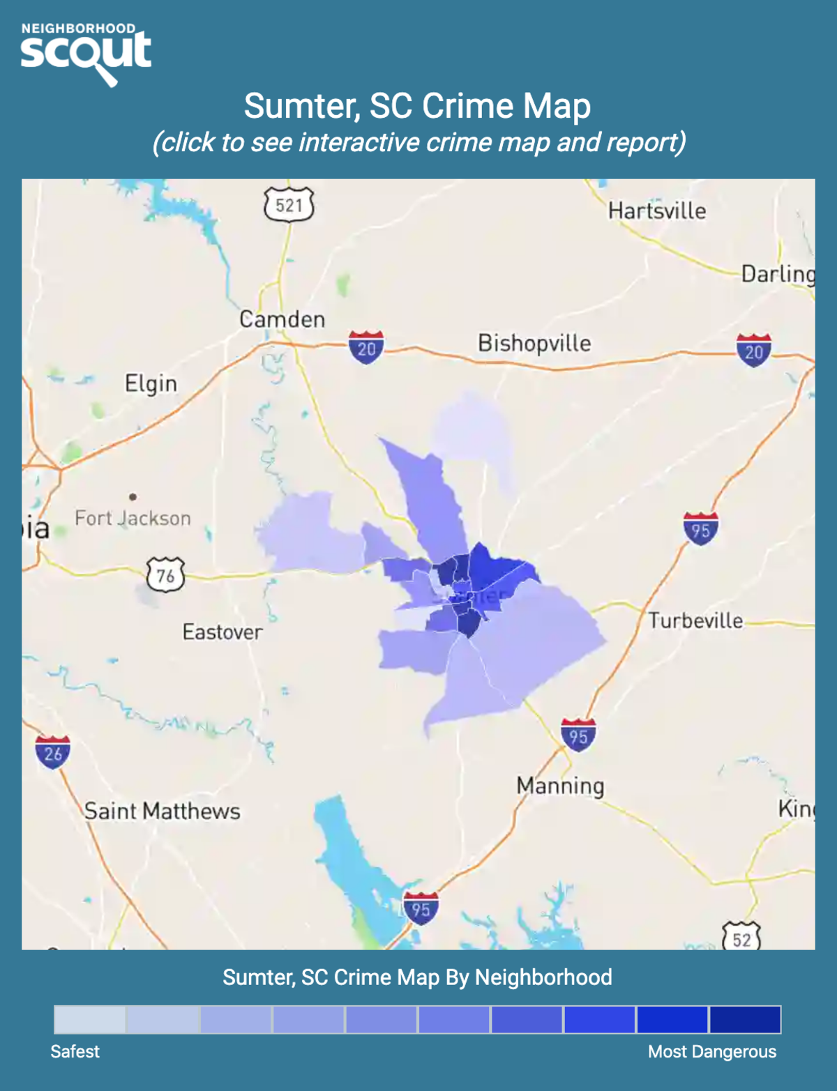 Sumter, South Carolina crime map