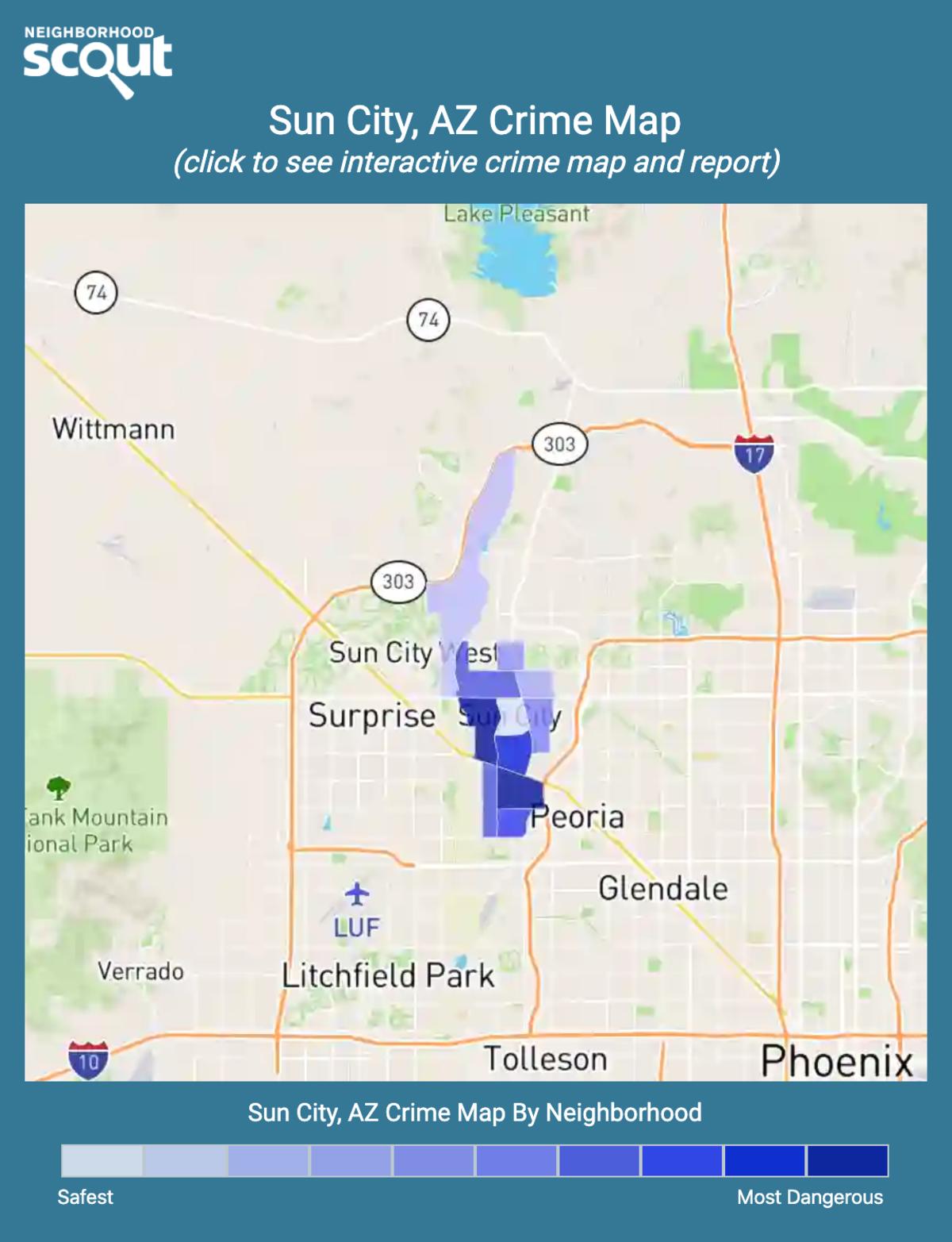 Sun City, Arizona crime map