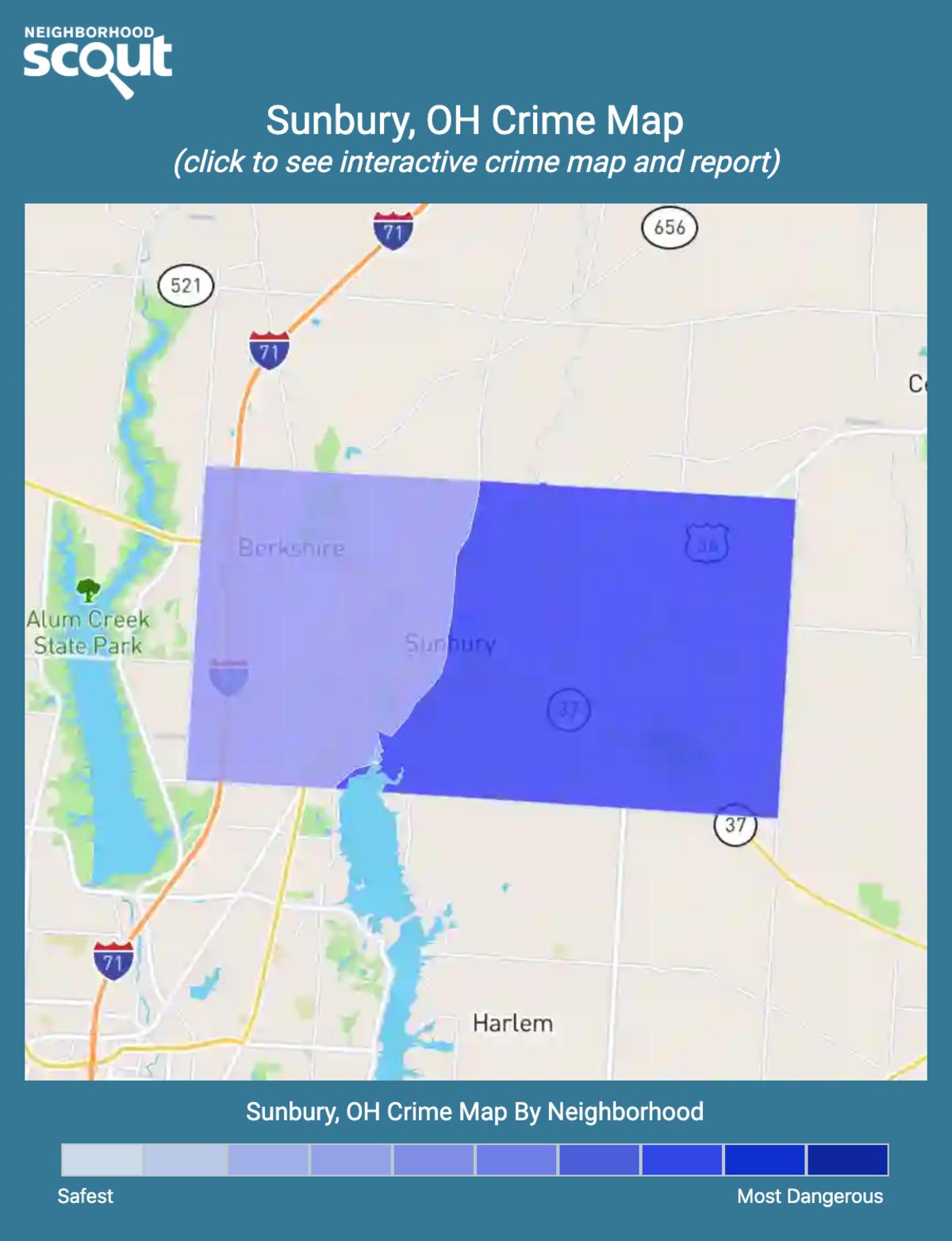 Sunbury, Ohio crime map