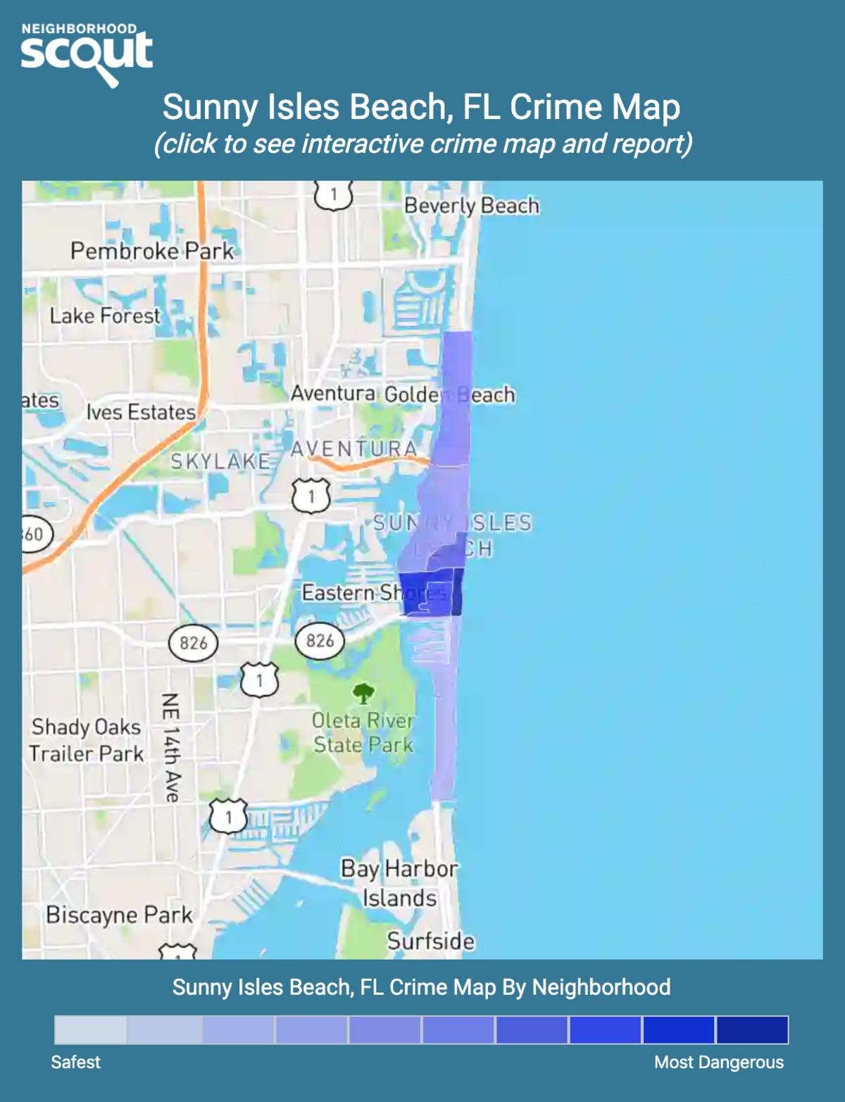 Sunny Isles Beach, Florida crime map