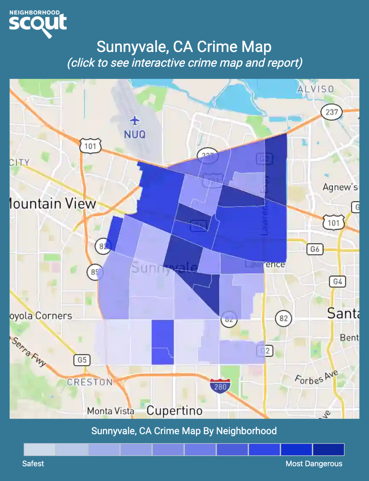 Sunnyvale, CA Crime Rates and Statistics - NeighborhoodScout
