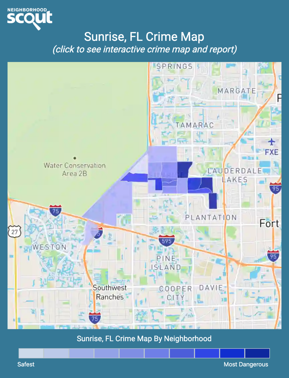 Sunrise, Florida crime map