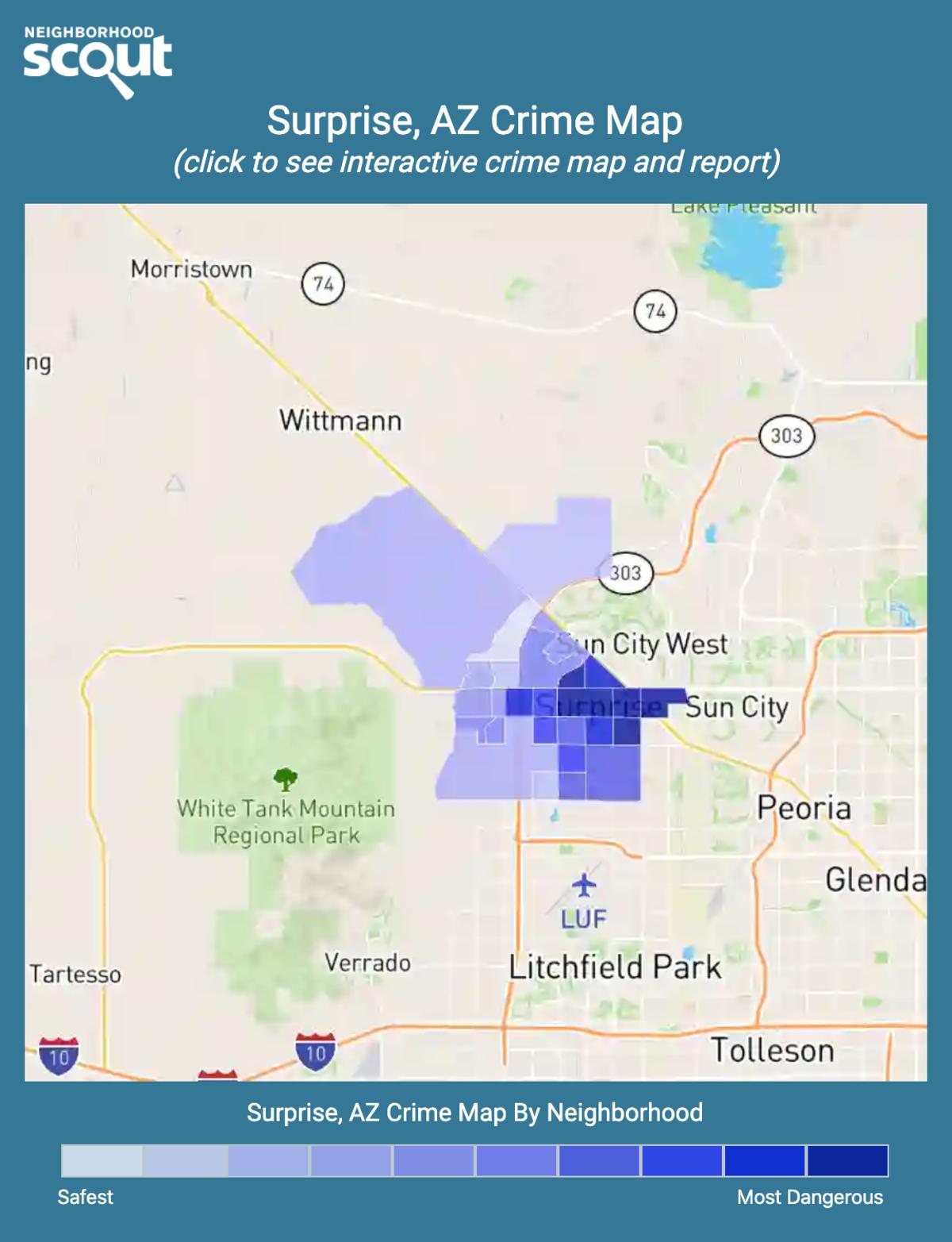 Surprise, Arizona crime map