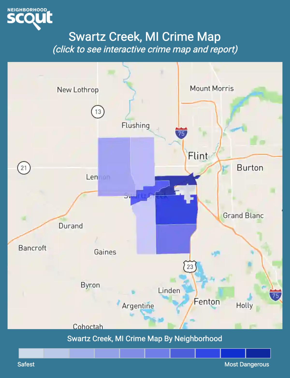 Swartz Creek, Michigan crime map