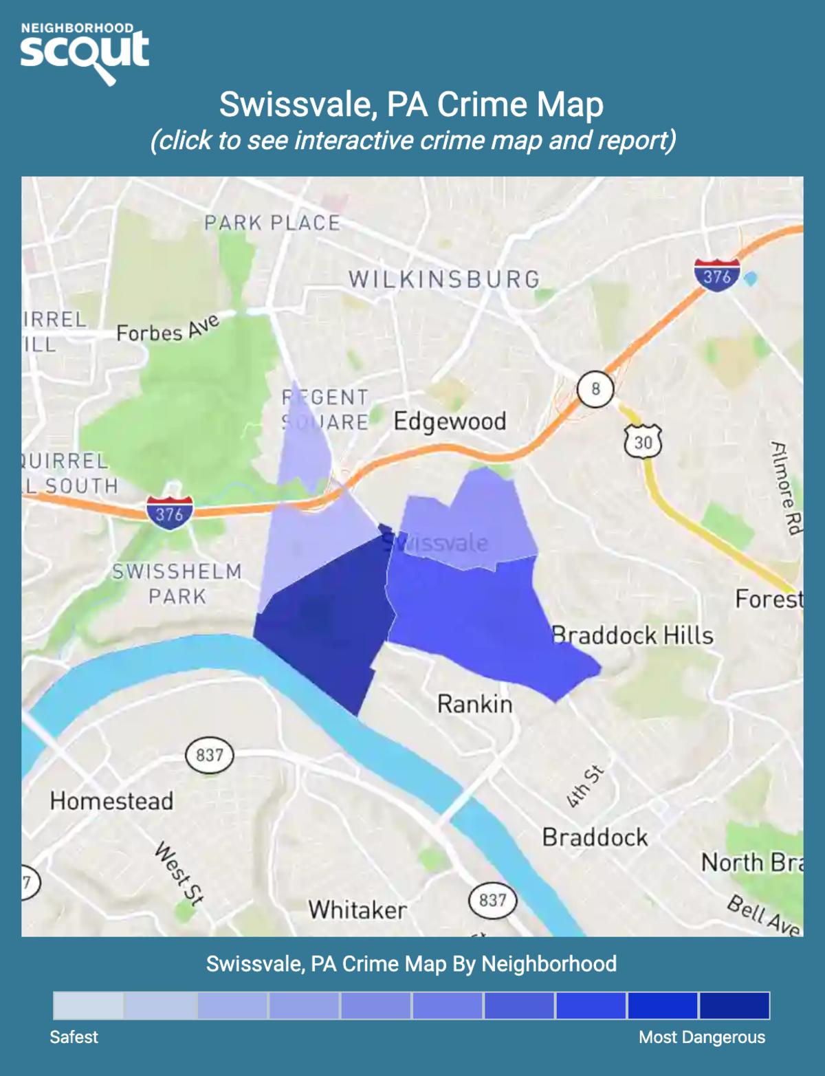 Swissvale, Pennsylvania crime map
