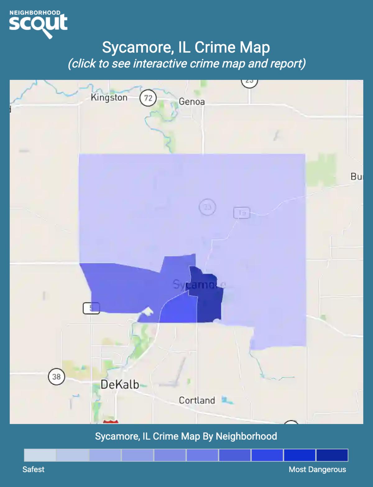 Sycamore, Illinois crime map