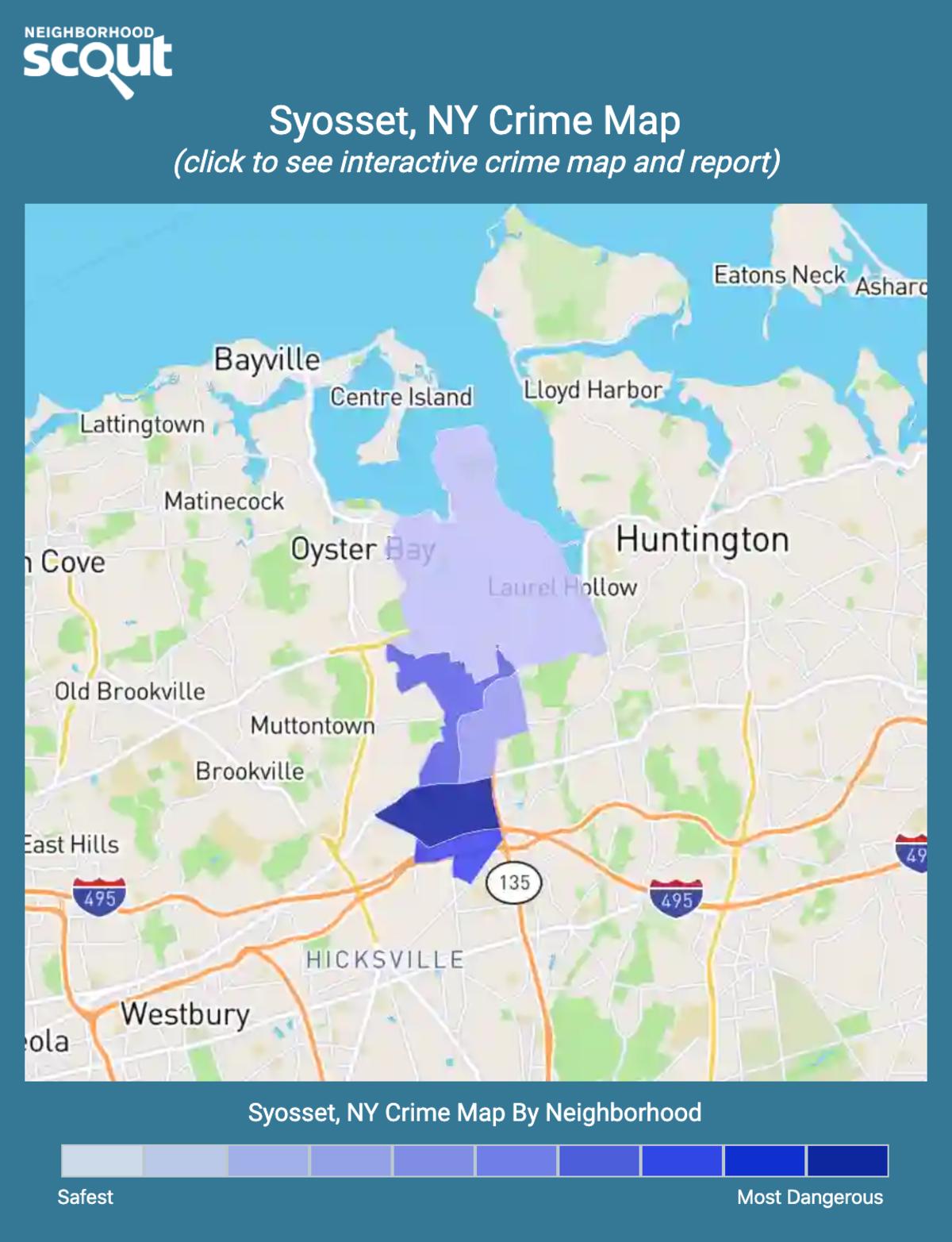 Syosset, New York crime map