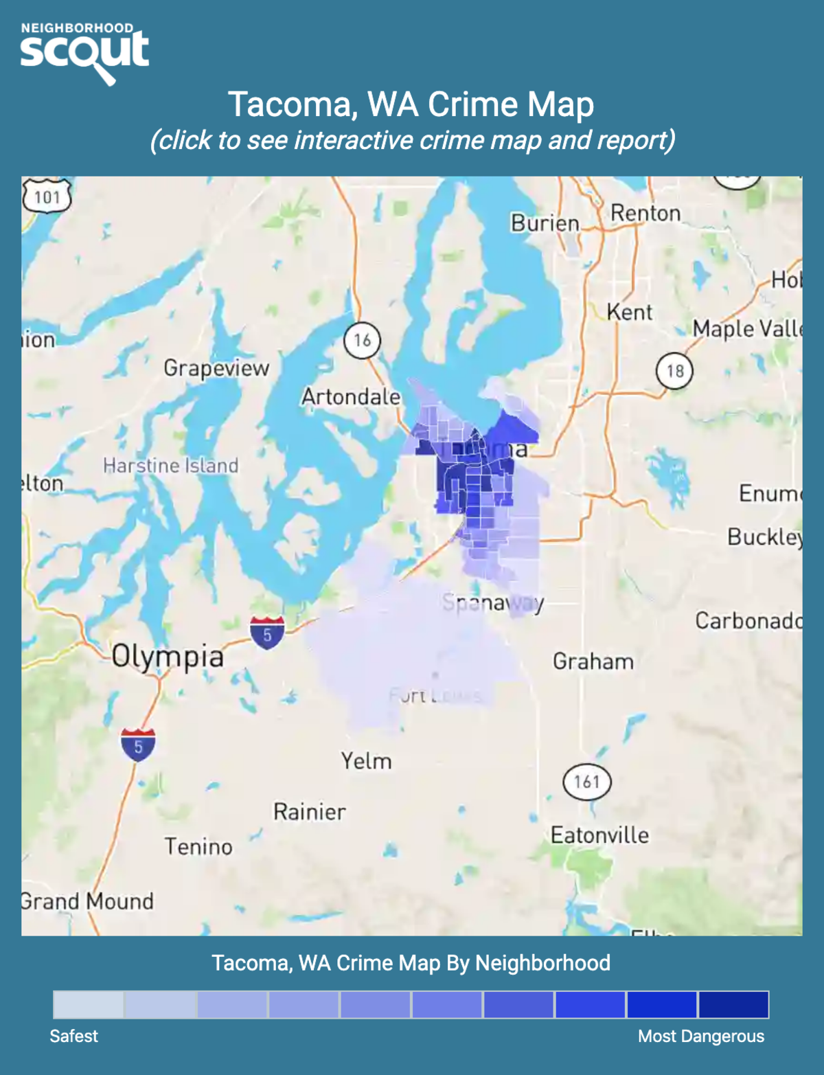 Tacoma, Washington crime map