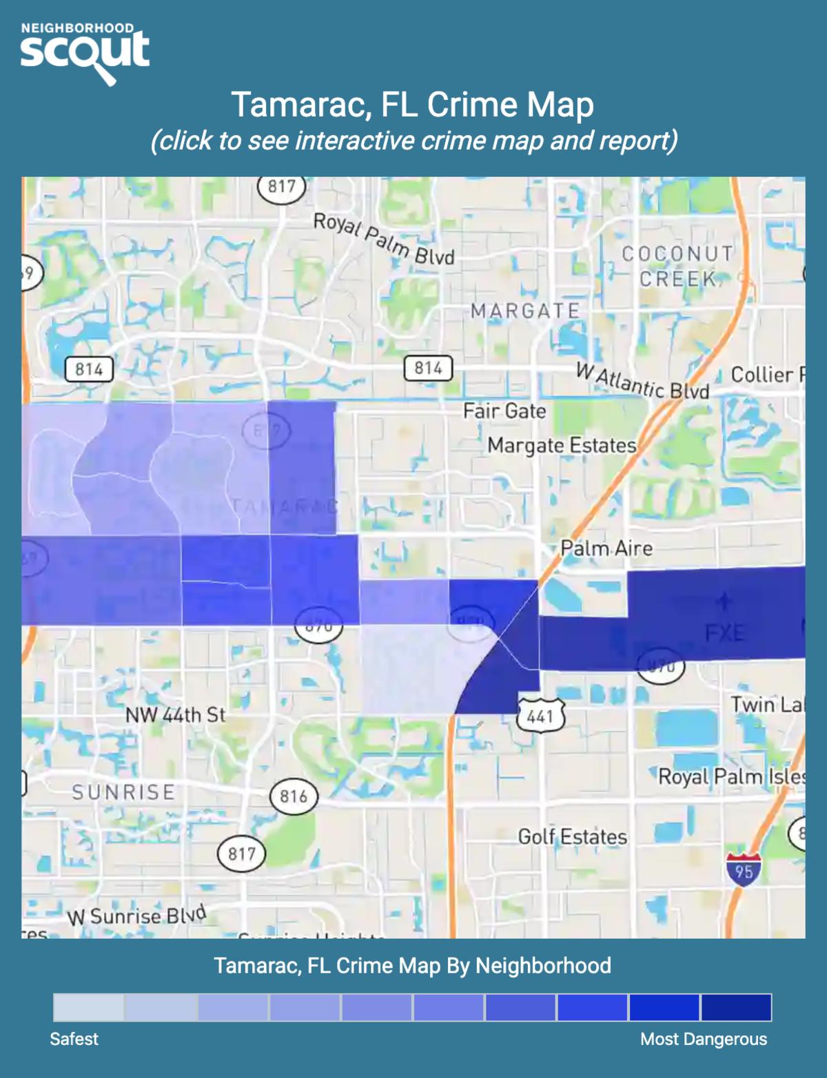 Tamarac, Florida crime map