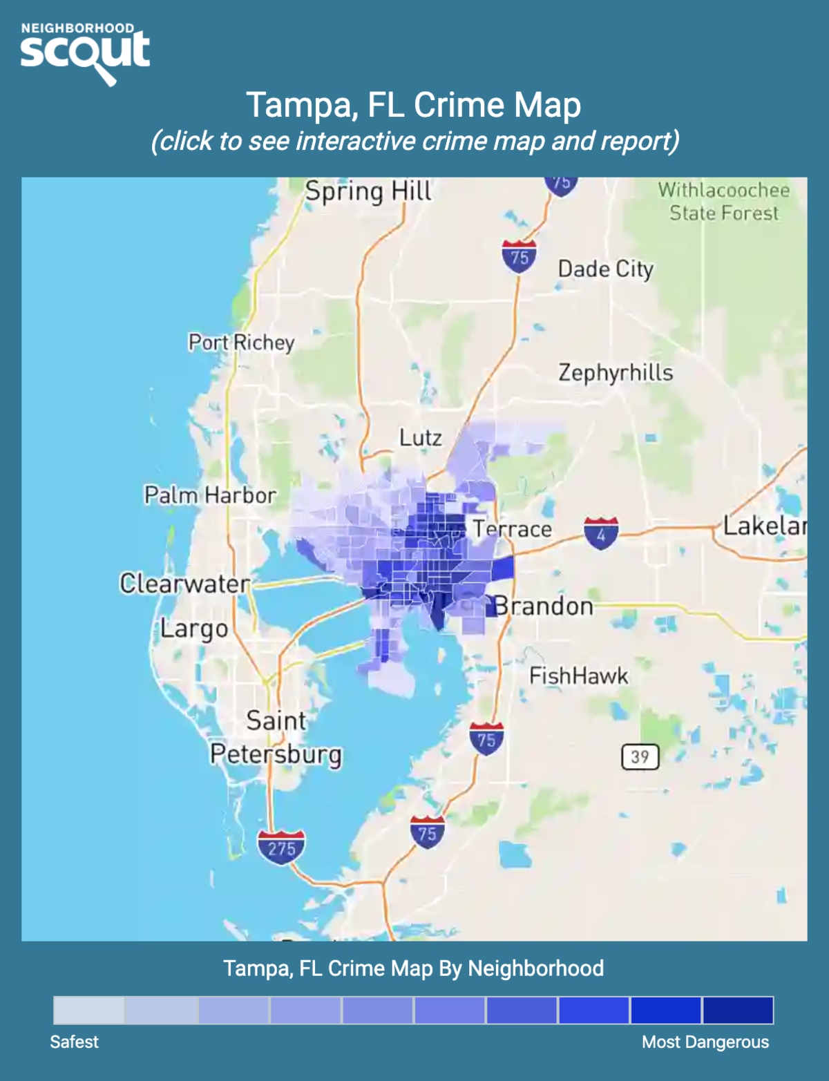 Tampa, Florida crime map
