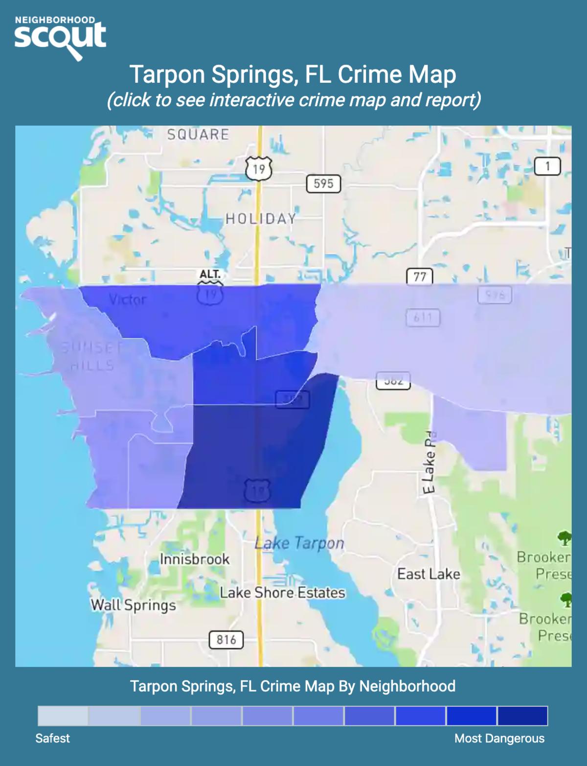 Tarpon Springs, Florida crime map