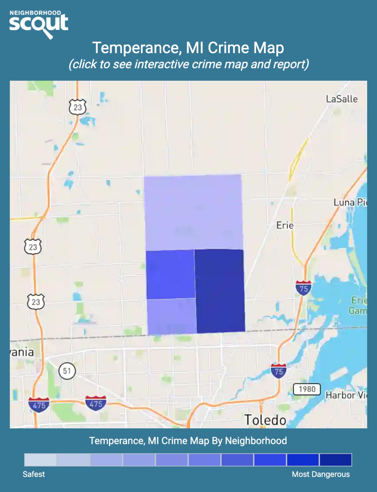 Temperance, Michigan crime map