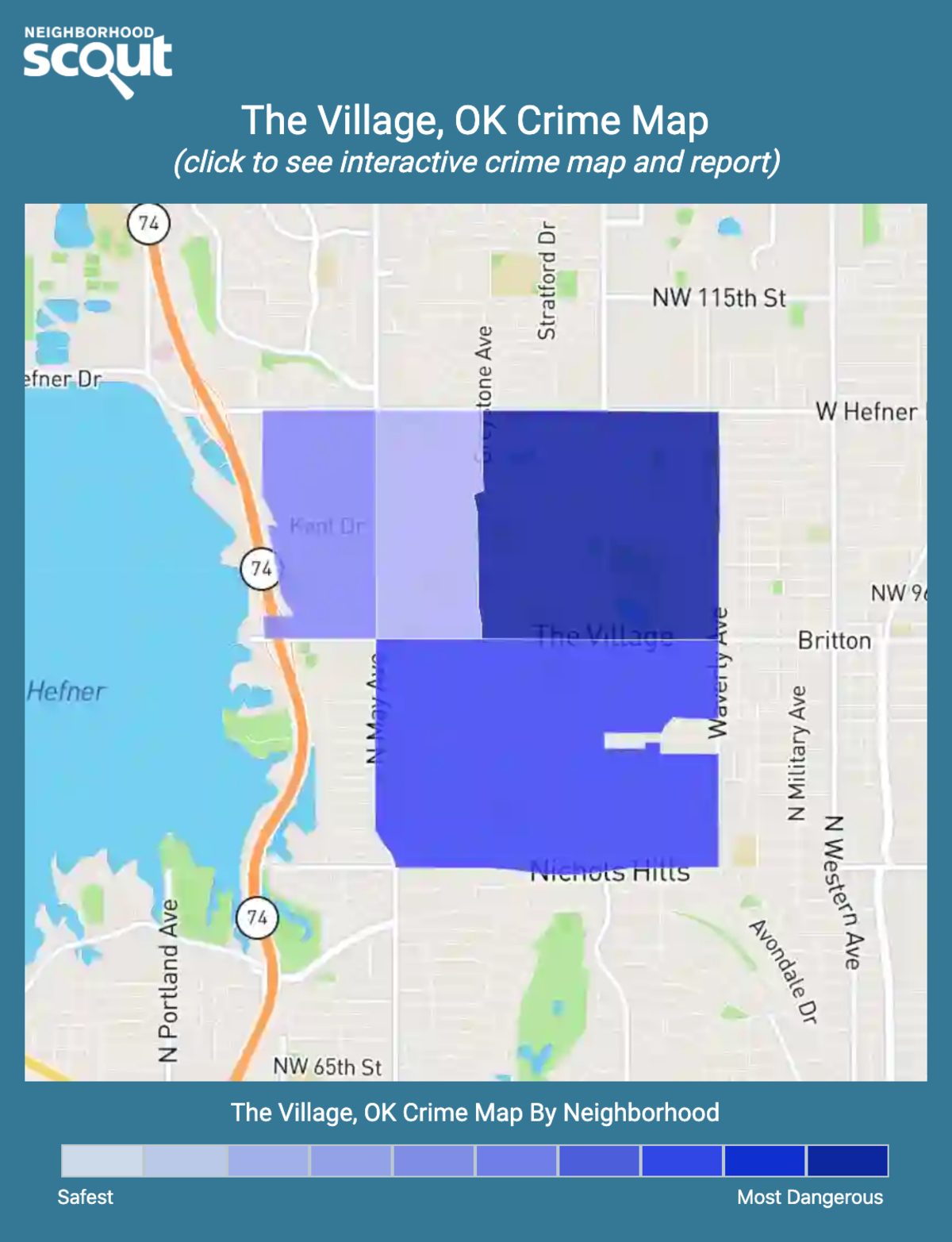 The Village, Oklahoma crime map