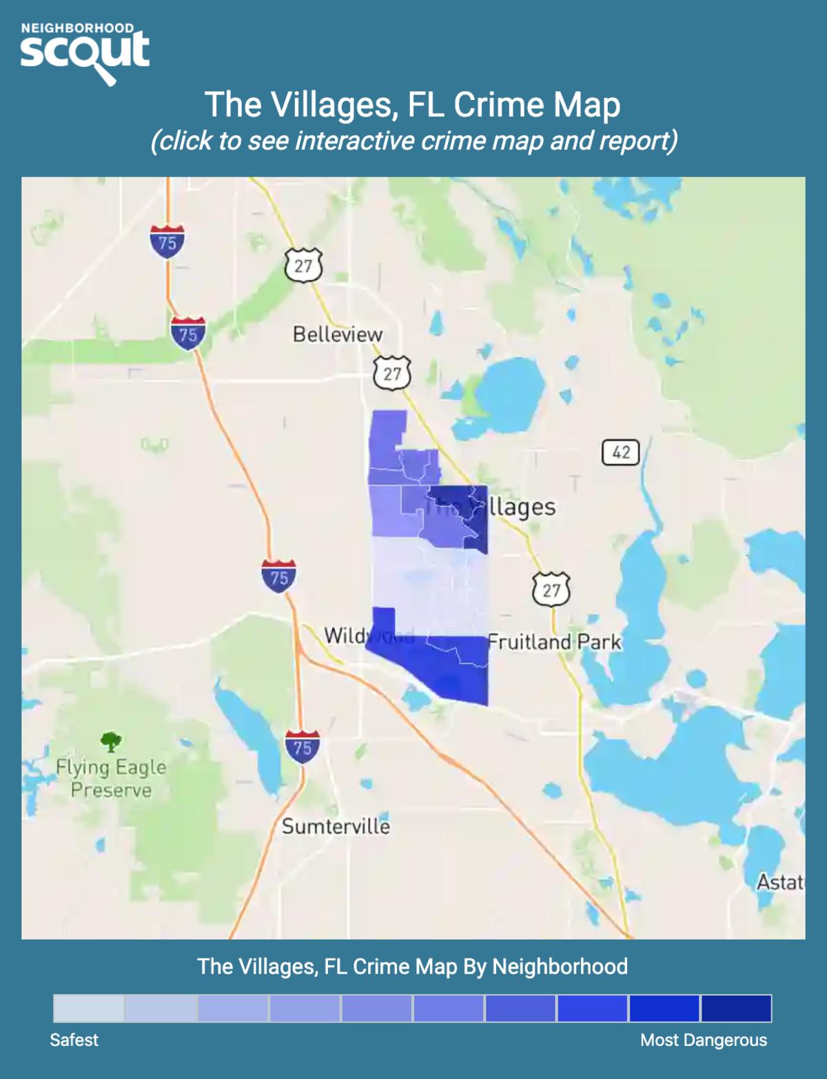 The Villages, Florida crime map