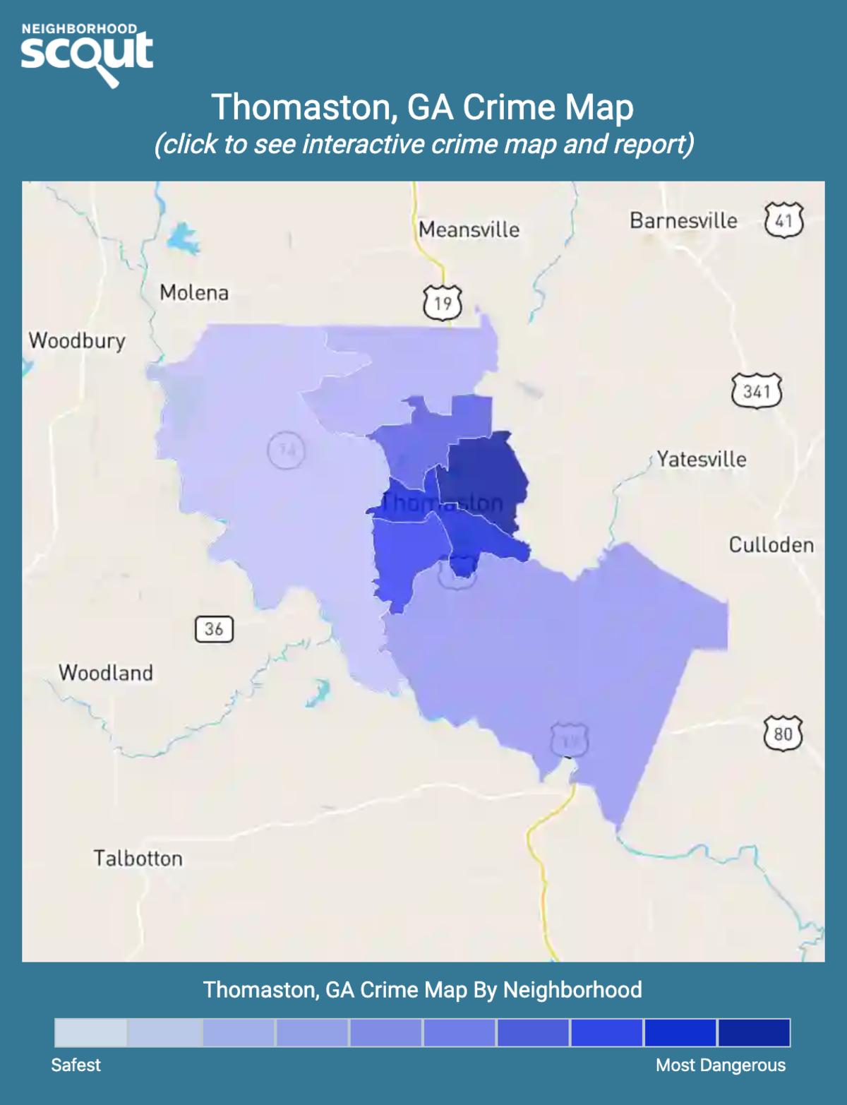 Thomaston, Georgia crime map