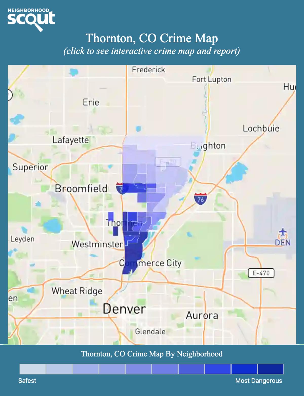 Thornton, Colorado crime map