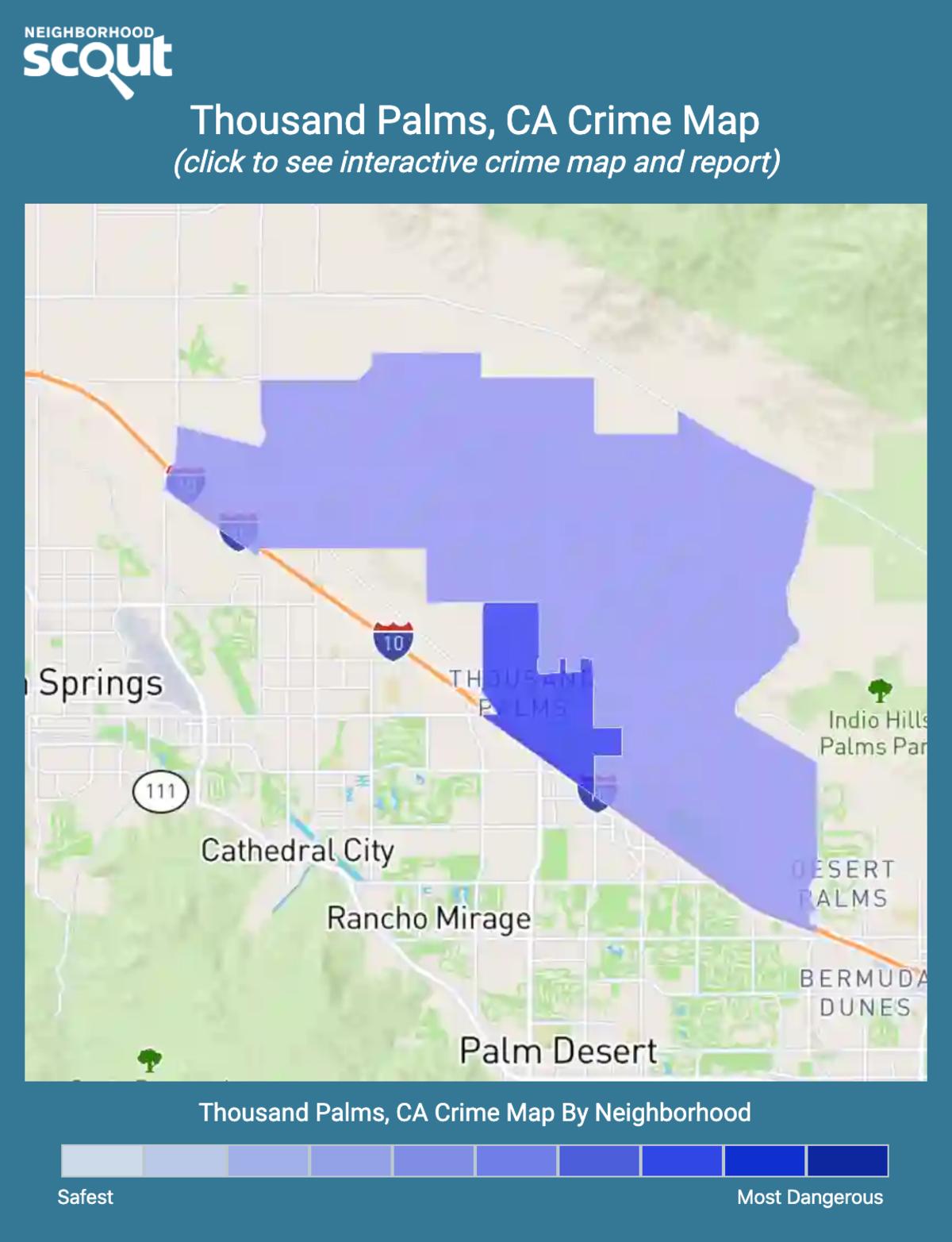 Thousand Palms, California crime map