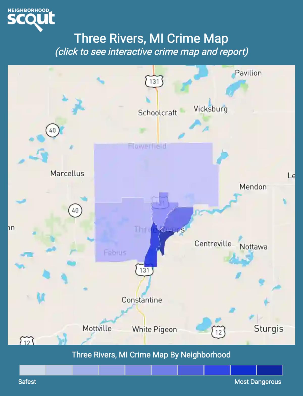Three Rivers, Michigan crime map