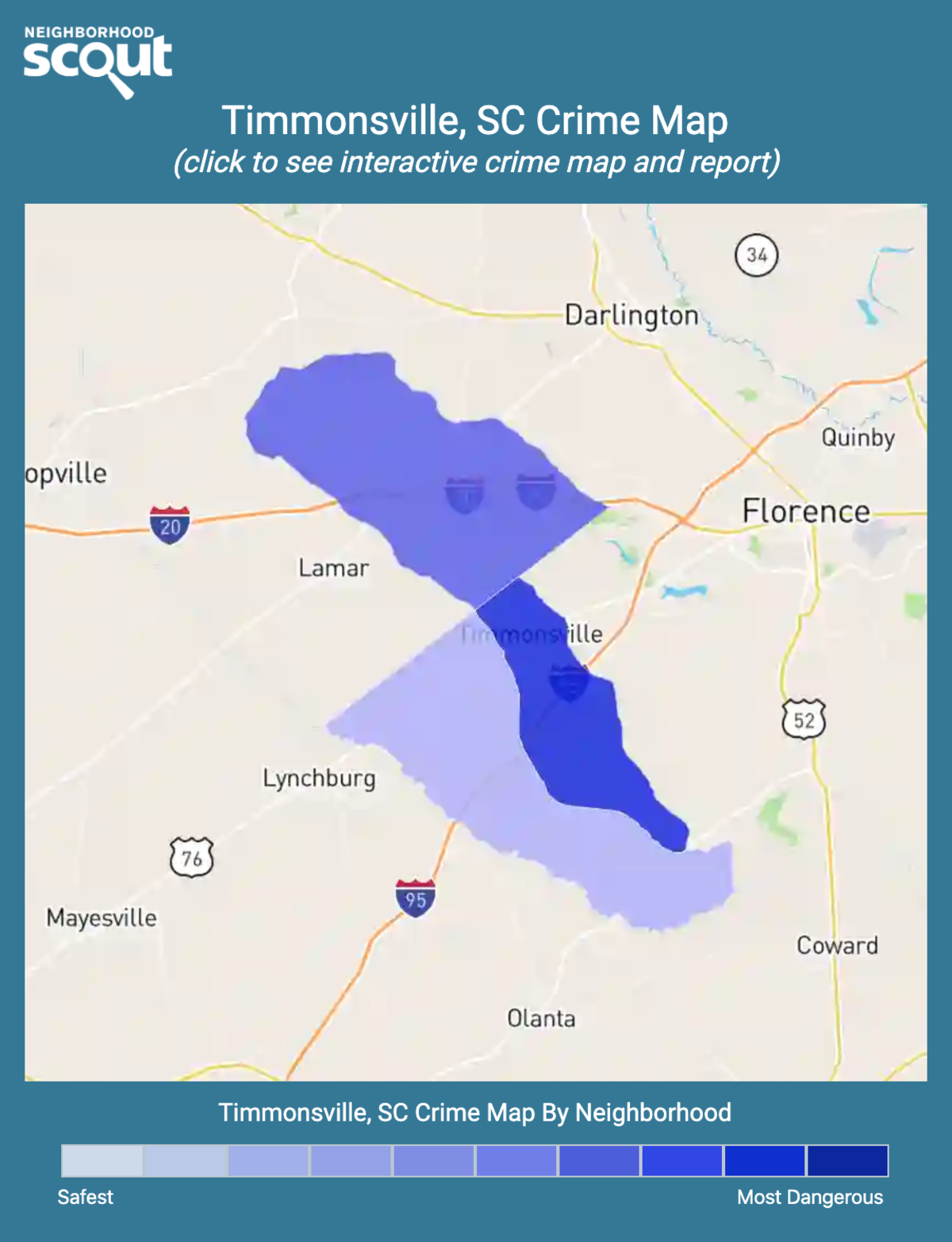 Timmonsville, South Carolina crime map