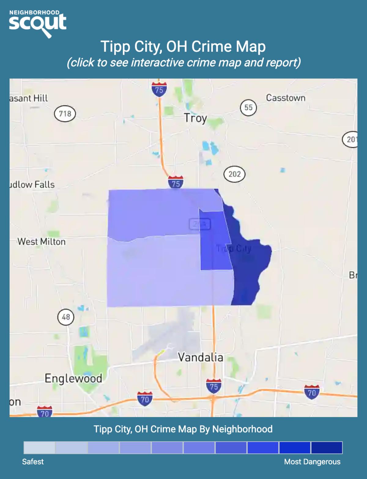 Tipp City, Ohio crime map