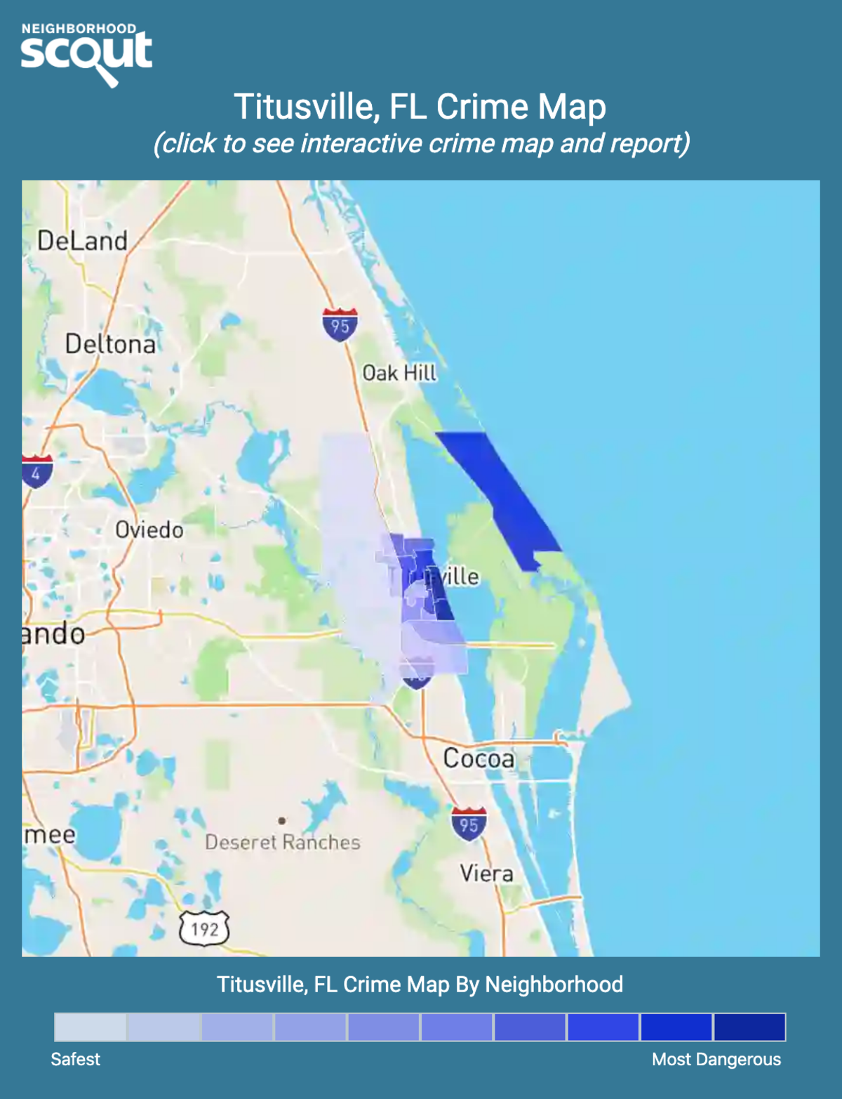 Titusville, Florida crime map