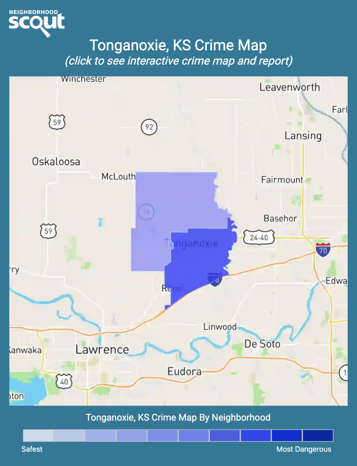 Tonganoxie, Kansas crime map