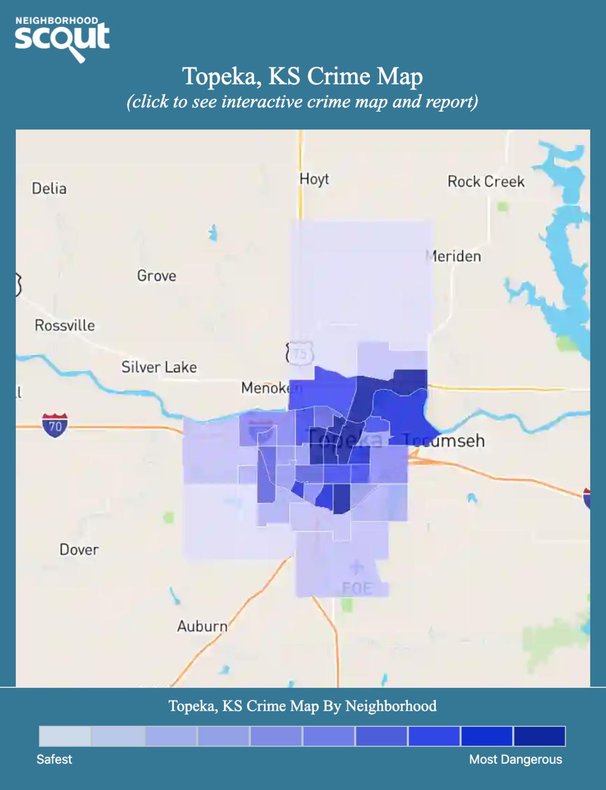 Topeka, Kansas crime map