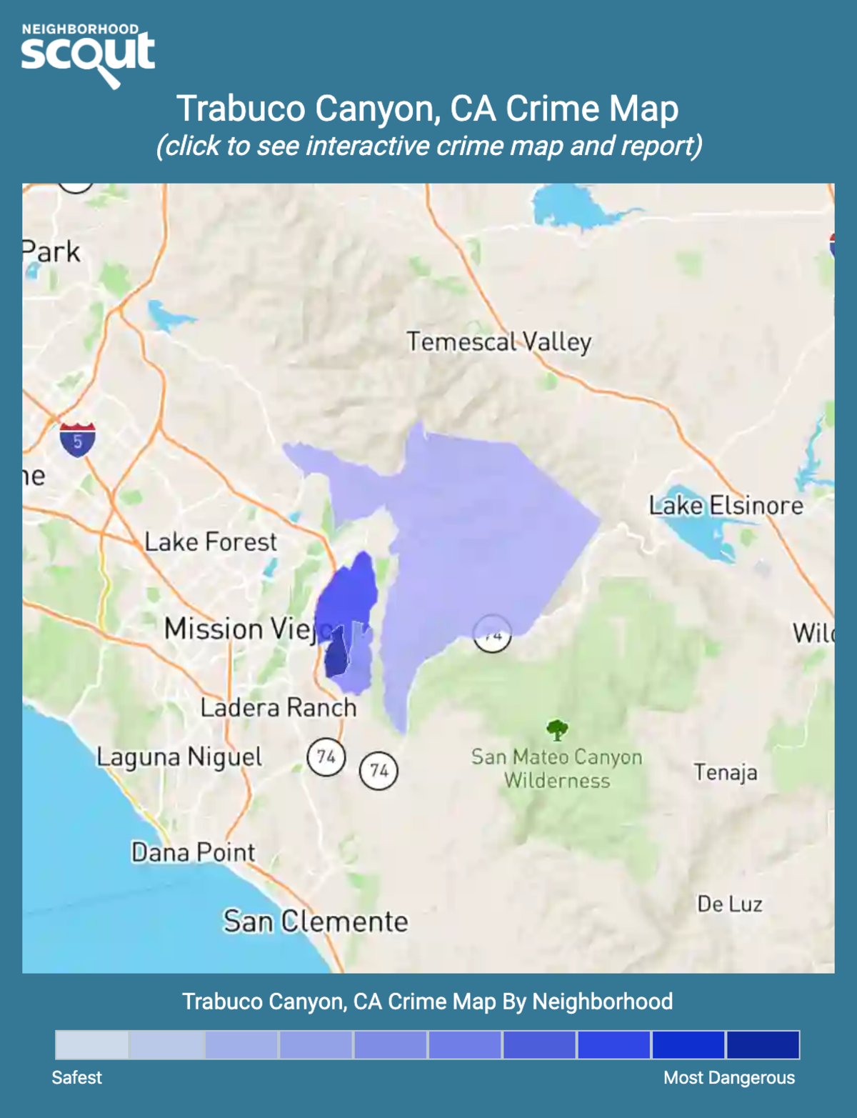 Trabuco Canyon, California crime map