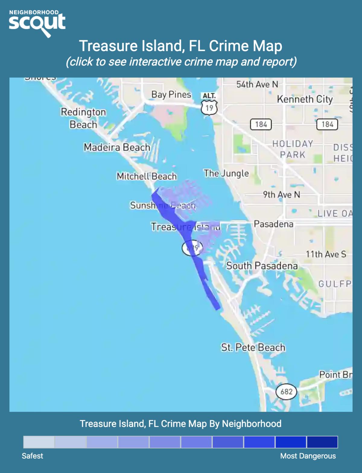 Treasure Island, Florida crime map