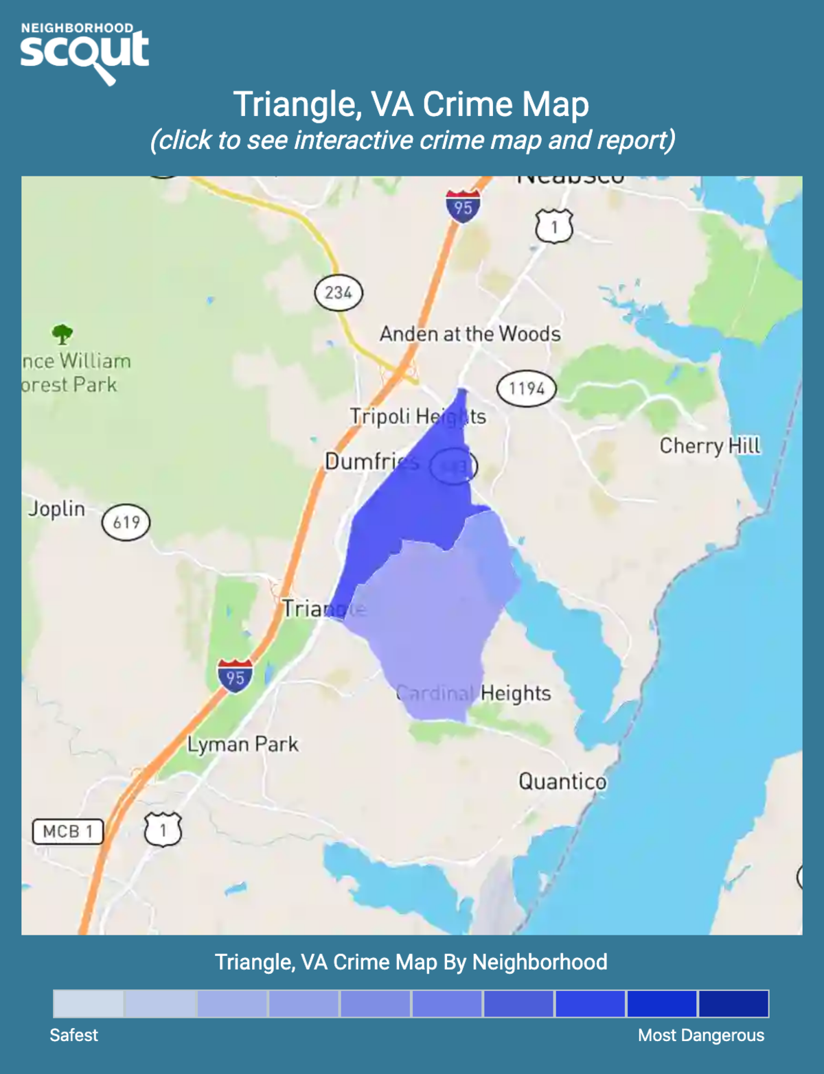 Triangle, Virginia crime map
