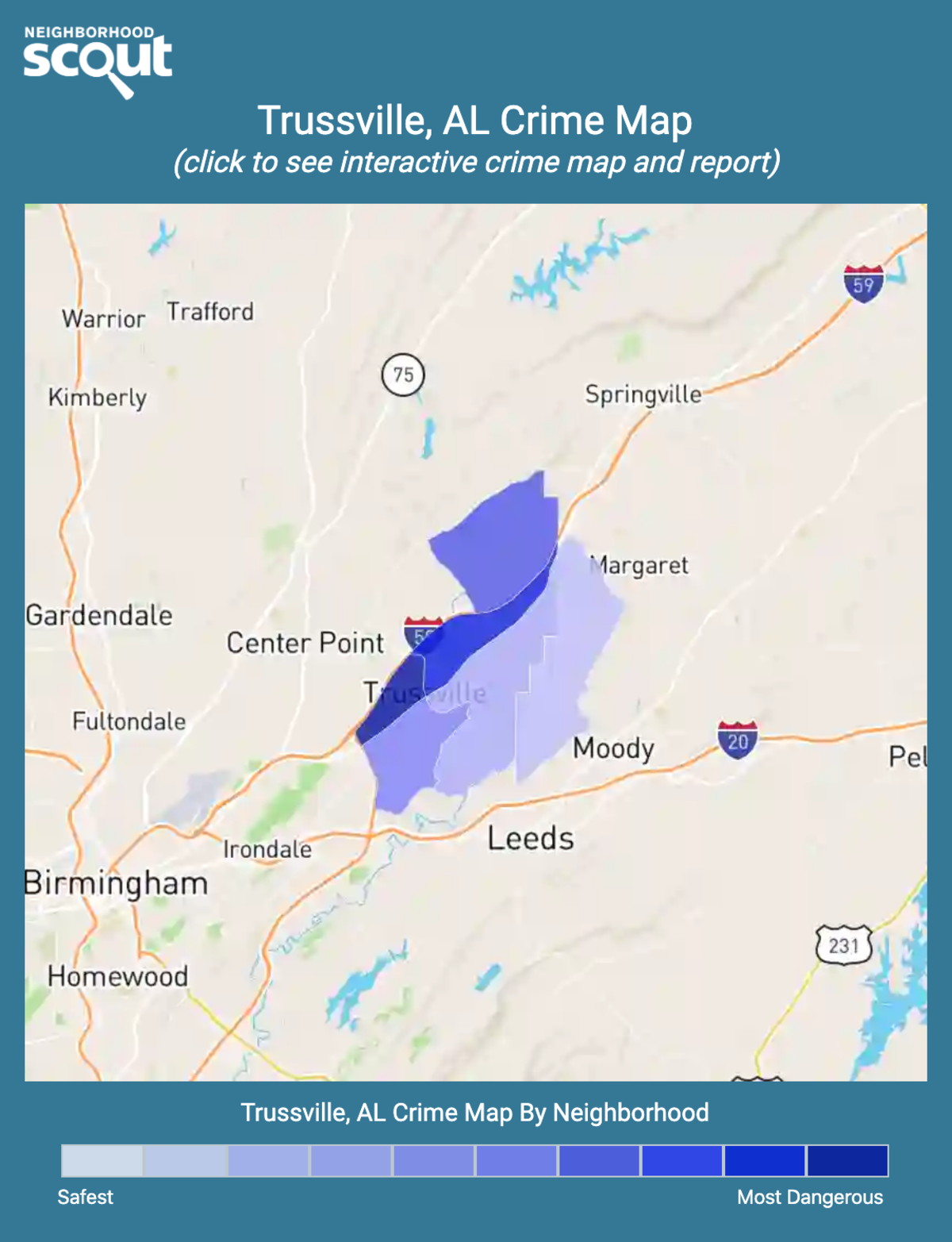 Trussville, Alabama crime map